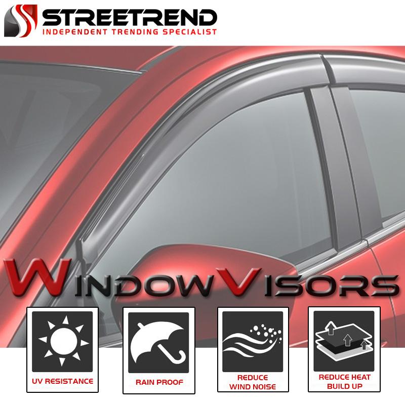 SUN//RAIN//WIND GUARD SHADE DEFLECTOR WINDOW VISORS 2000-2006 TAHOE//YUKON 4 DOOR