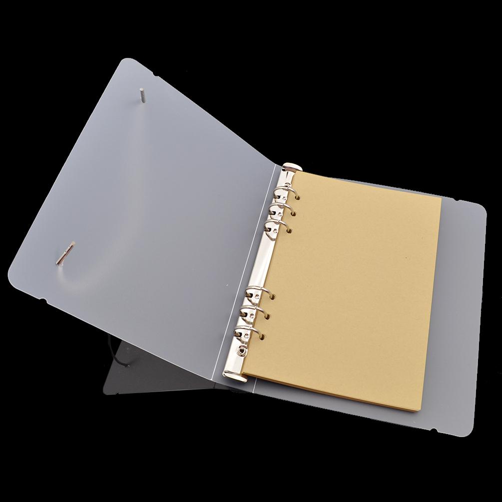 A5/A6 Transparent 6 Hole Ring Binder PVC File Folder