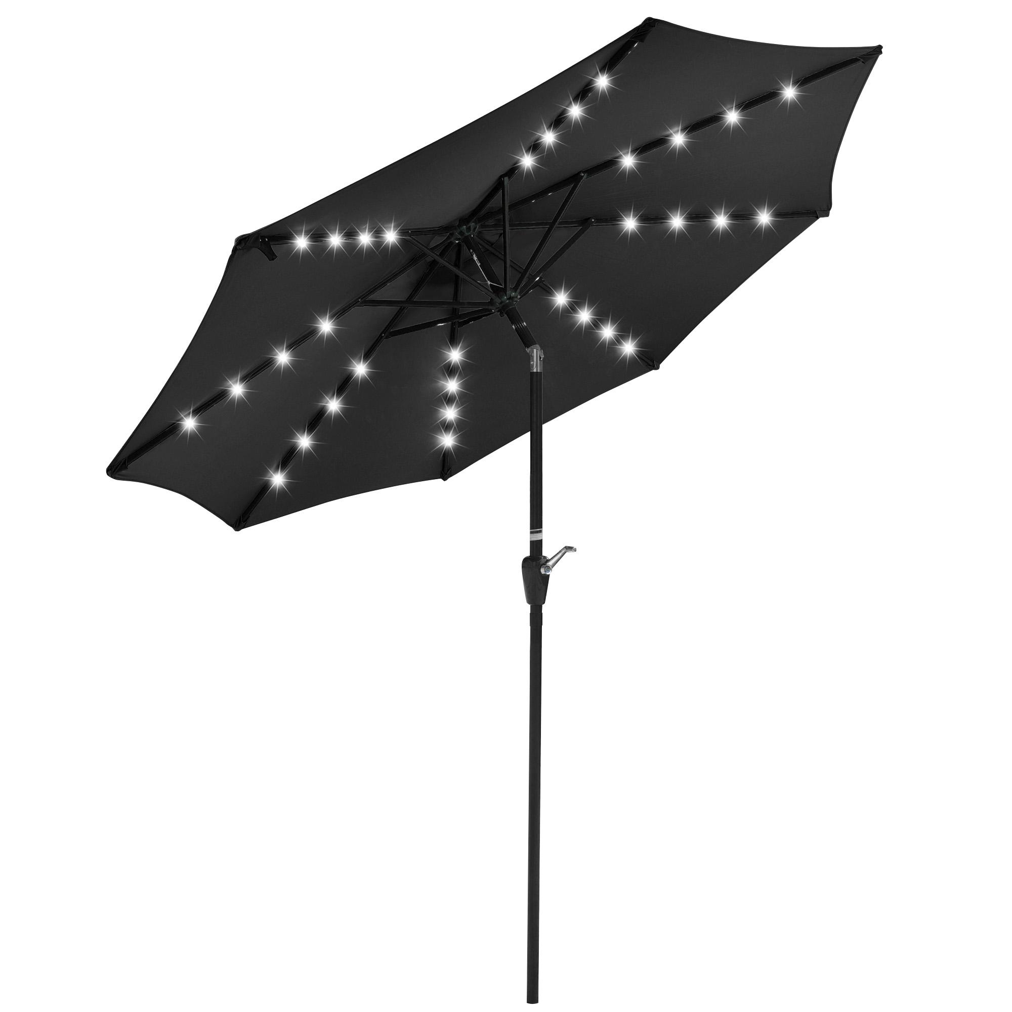 thumbnail 41 - 9' Patio Outdoor Umbrella Solar LED 8 Rib Garden Parasol Yard Deck Table Shade