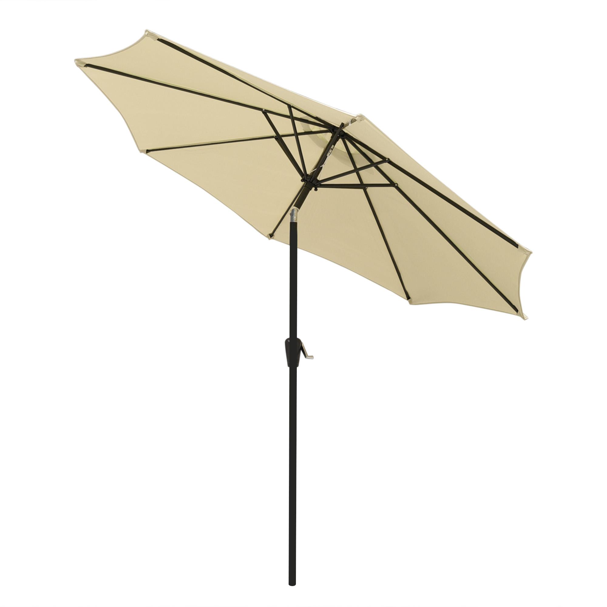 thumbnail 27 - 9' Outdoor Umbrella Patio 8 Ribs Market Garden Crank Tilt Beach Sunshade Parasol
