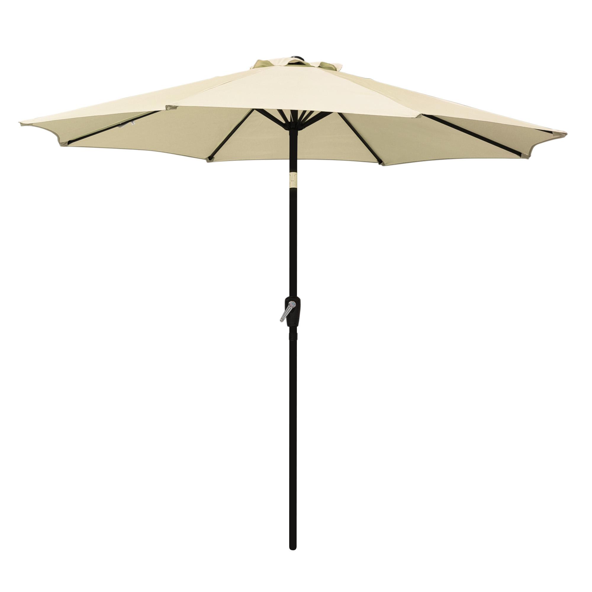 thumbnail 30 - 9' Outdoor Umbrella Patio 8 Ribs Market Garden Crank Tilt Beach Sunshade Parasol