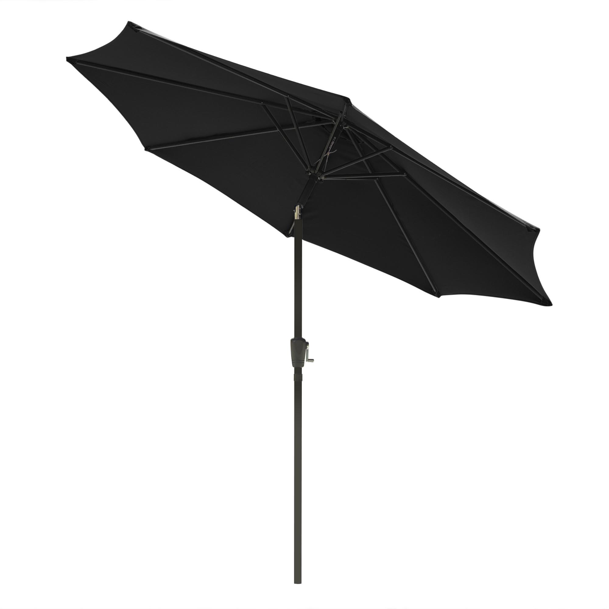 thumbnail 40 - 9' Outdoor Umbrella Patio 8 Ribs Market Garden Crank Tilt Beach Sunshade Parasol