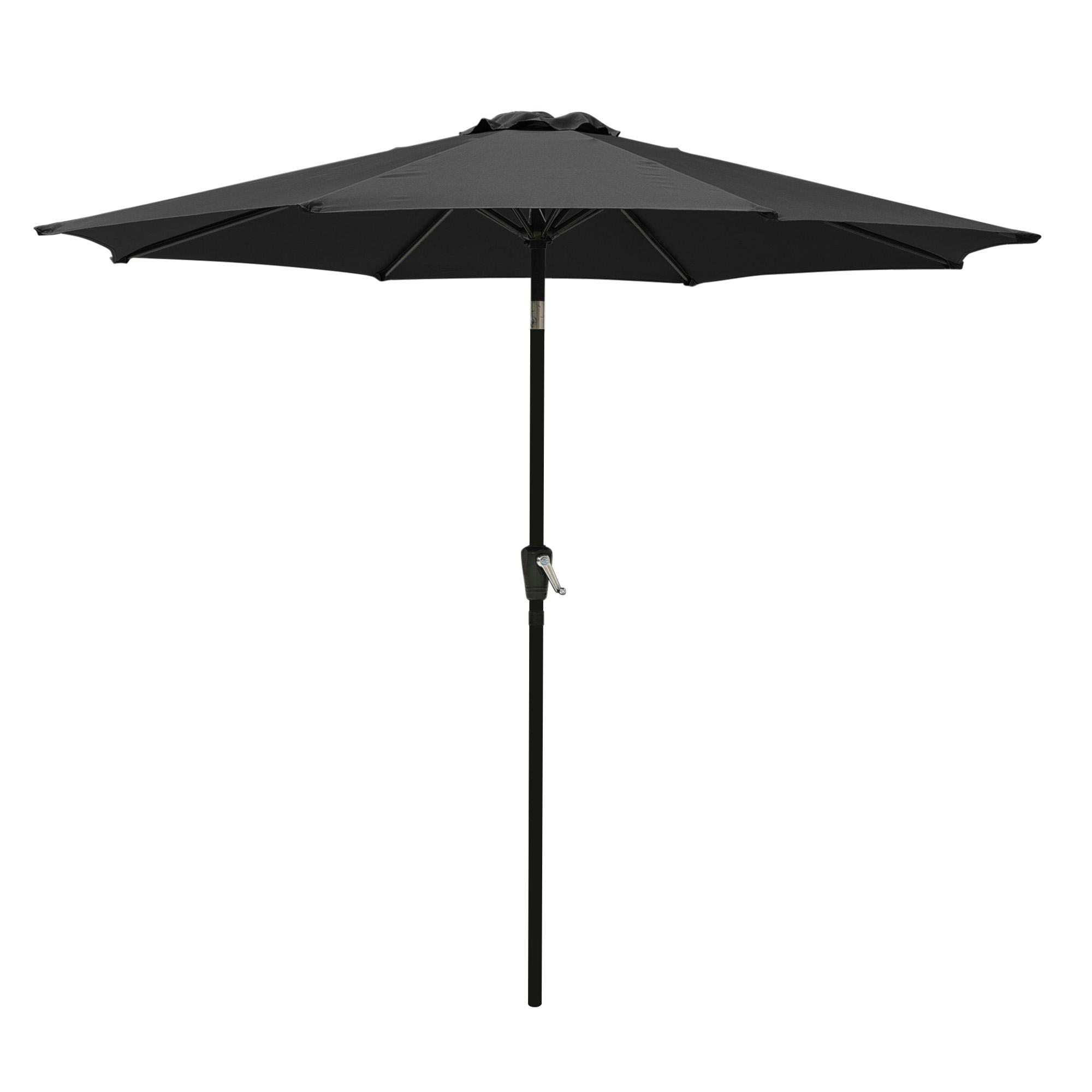 thumbnail 43 - 9' Outdoor Umbrella Patio 8 Ribs Market Garden Crank Tilt Beach Sunshade Parasol