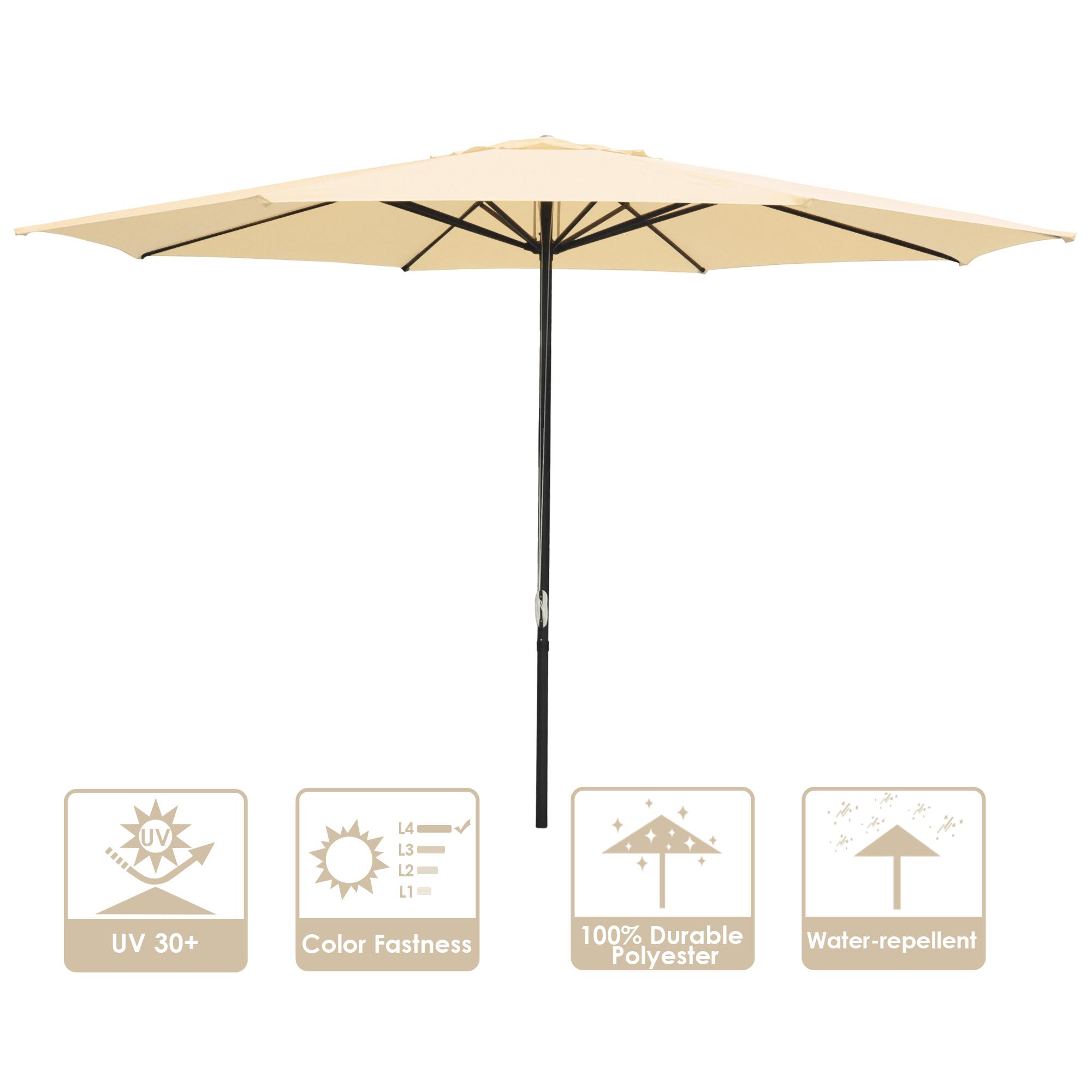 thumbnail 27 - 13' FT Sun Shade Patio Aluminum Umbrella UV30+ Outdoor Market Garden Beach Deck