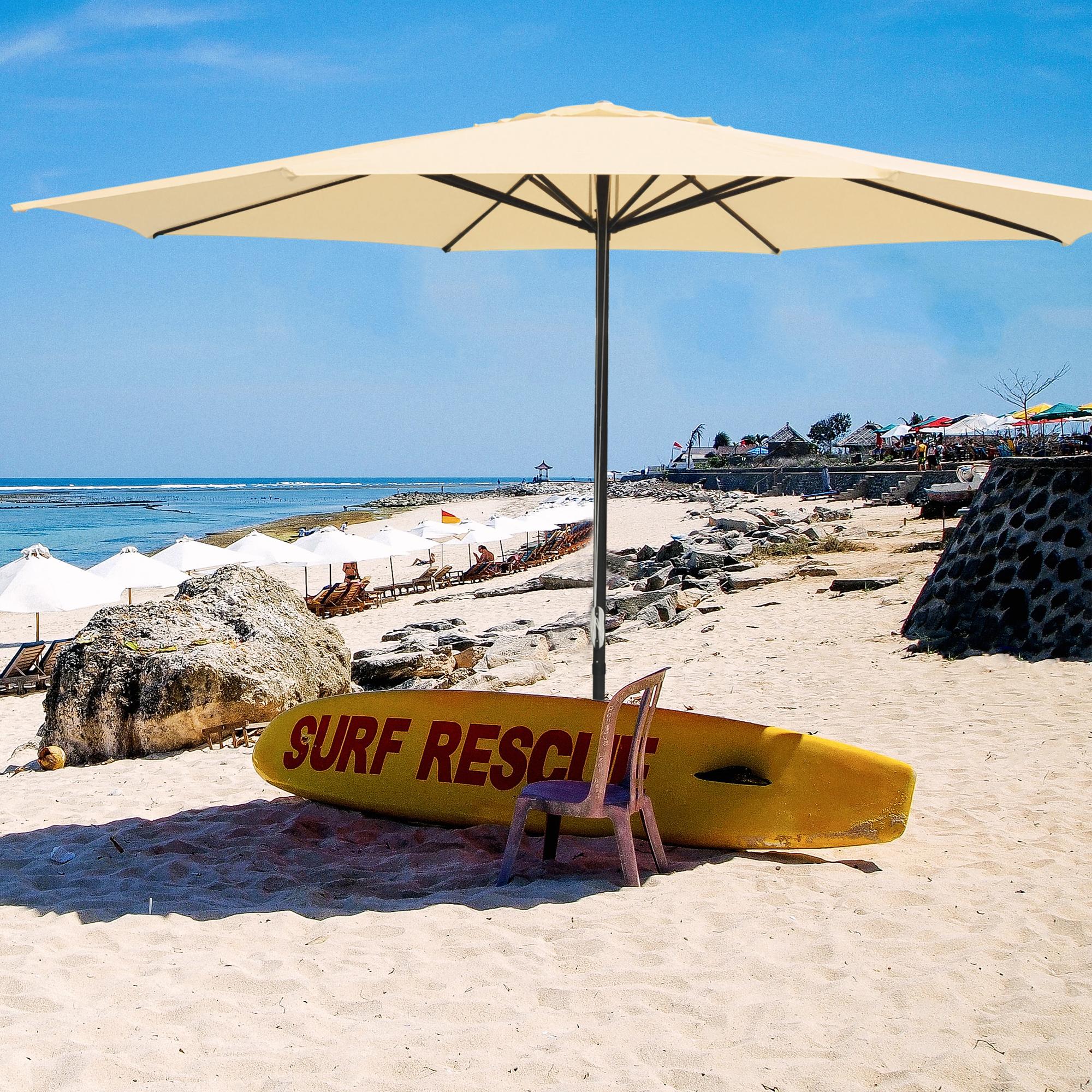 thumbnail 25 - 13' FT Sun Shade Patio Aluminum Umbrella UV30+ Outdoor Market Garden Beach Deck