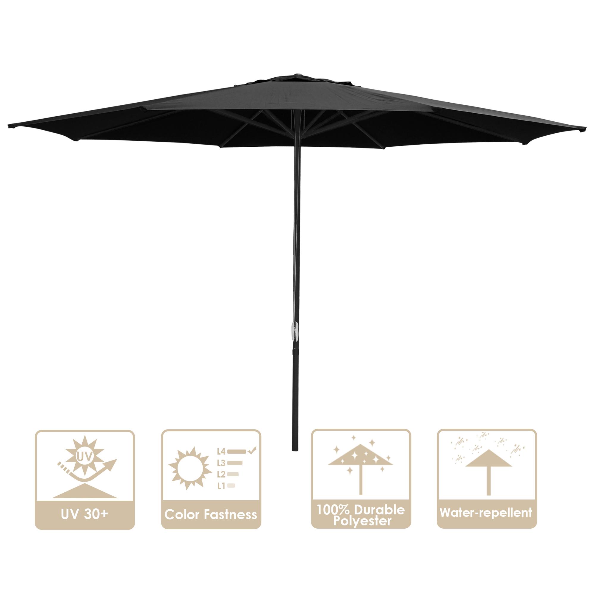 thumbnail 39 - 13' FT Sun Shade Patio Aluminum Umbrella UV30+ Outdoor Market Garden Beach Deck