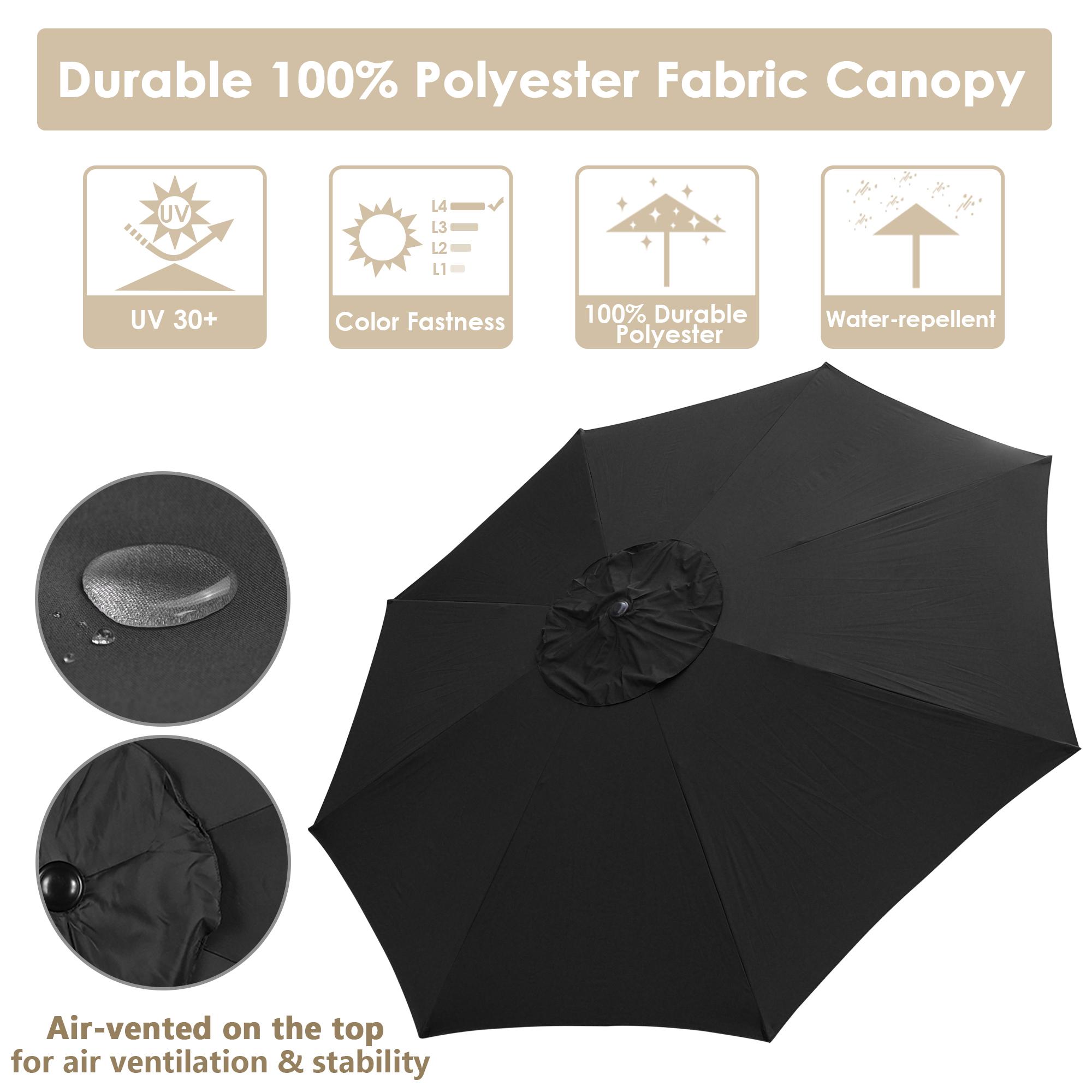 thumbnail 40 - 13' FT Sun Shade Patio Aluminum Umbrella UV30+ Outdoor Market Garden Beach Deck