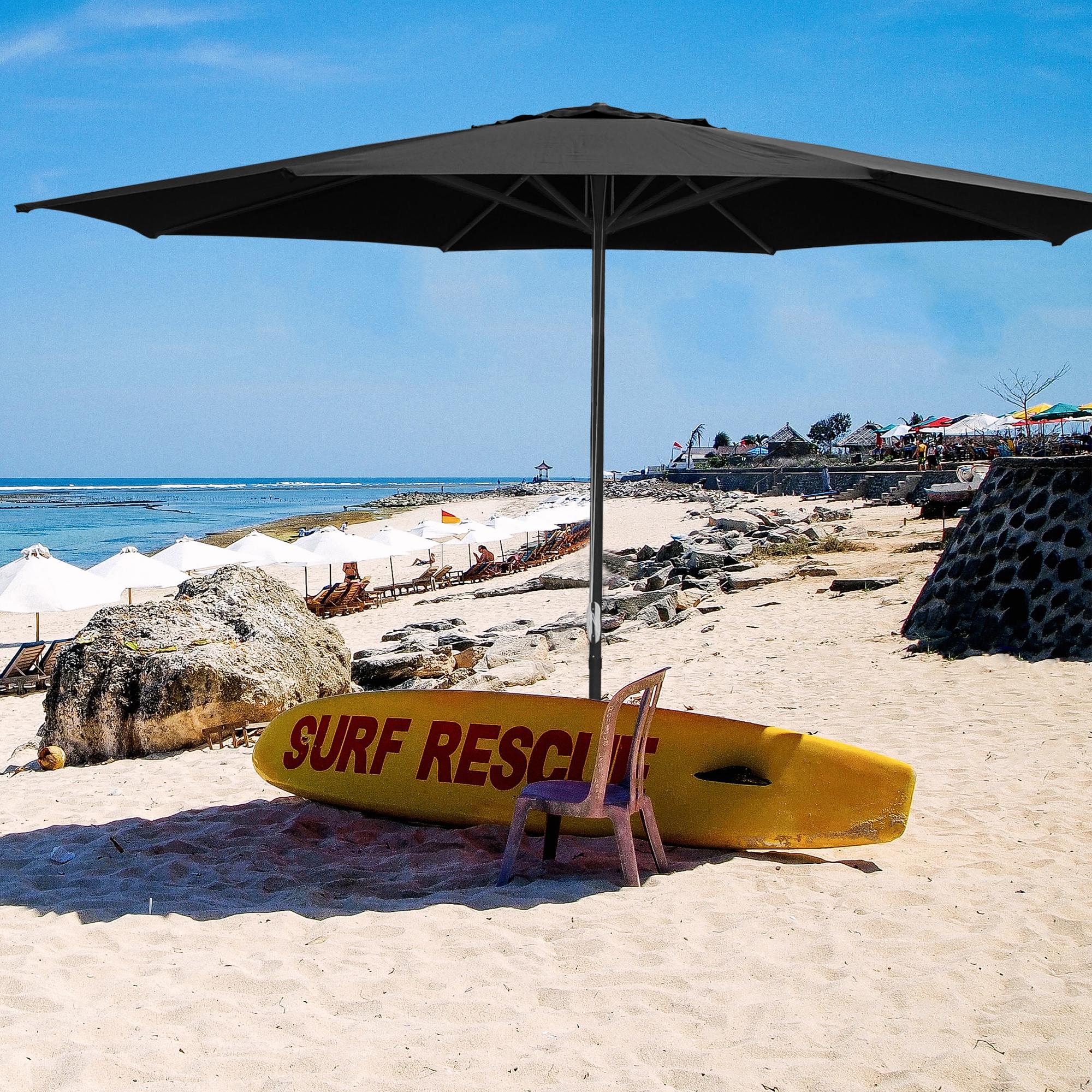 thumbnail 37 - 13' FT Sun Shade Patio Aluminum Umbrella UV30+ Outdoor Market Garden Beach Deck