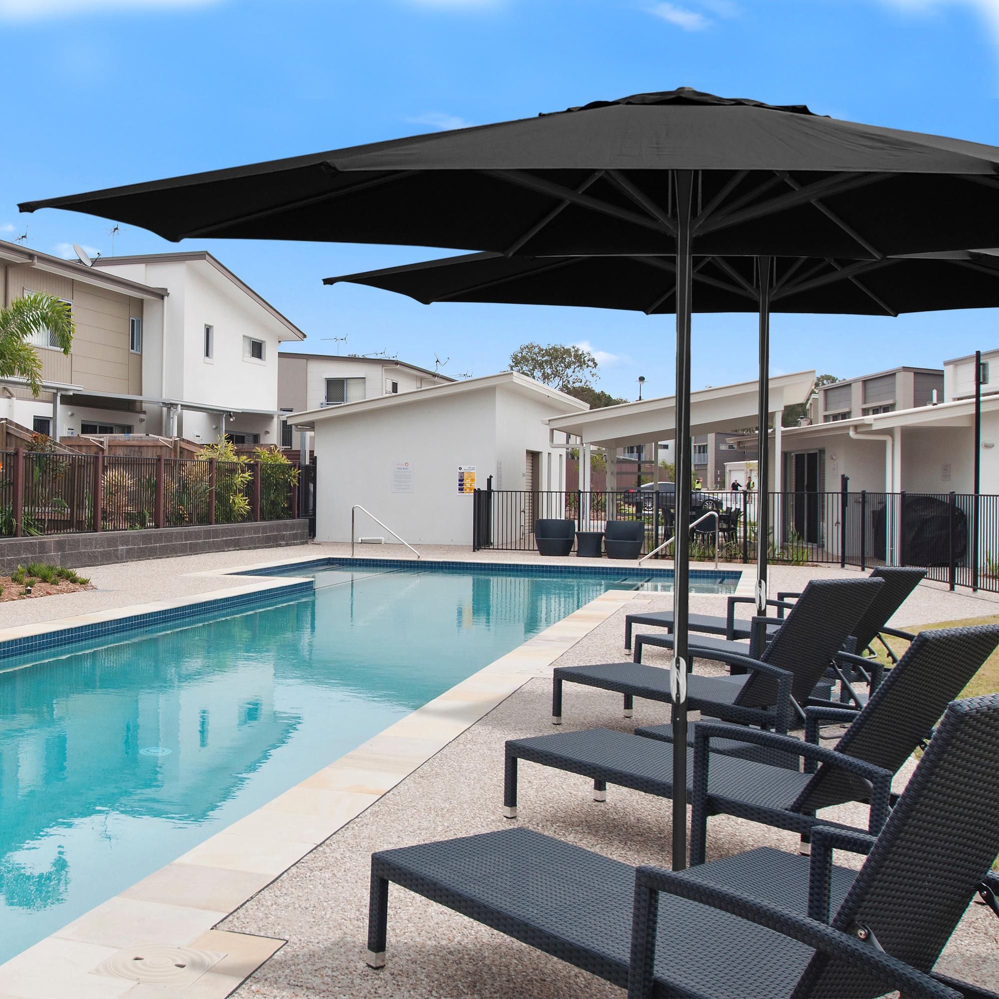 thumbnail 38 - 13' FT Sun Shade Patio Aluminum Umbrella UV30+ Outdoor Market Garden Beach Deck