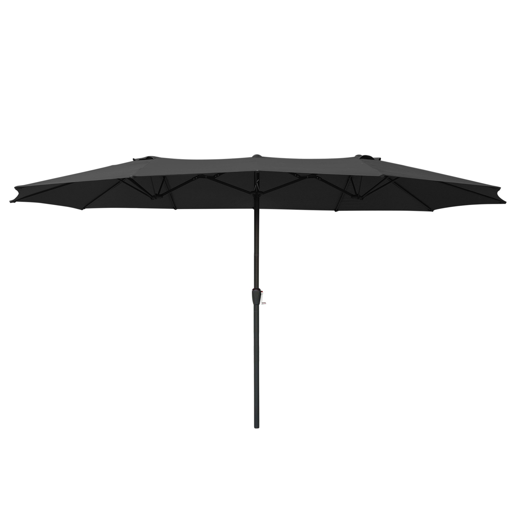 thumbnail 22 - 15ft Patio Twin Umbrella Double-sided Market Crank Outdoor Garden Parasol Shade