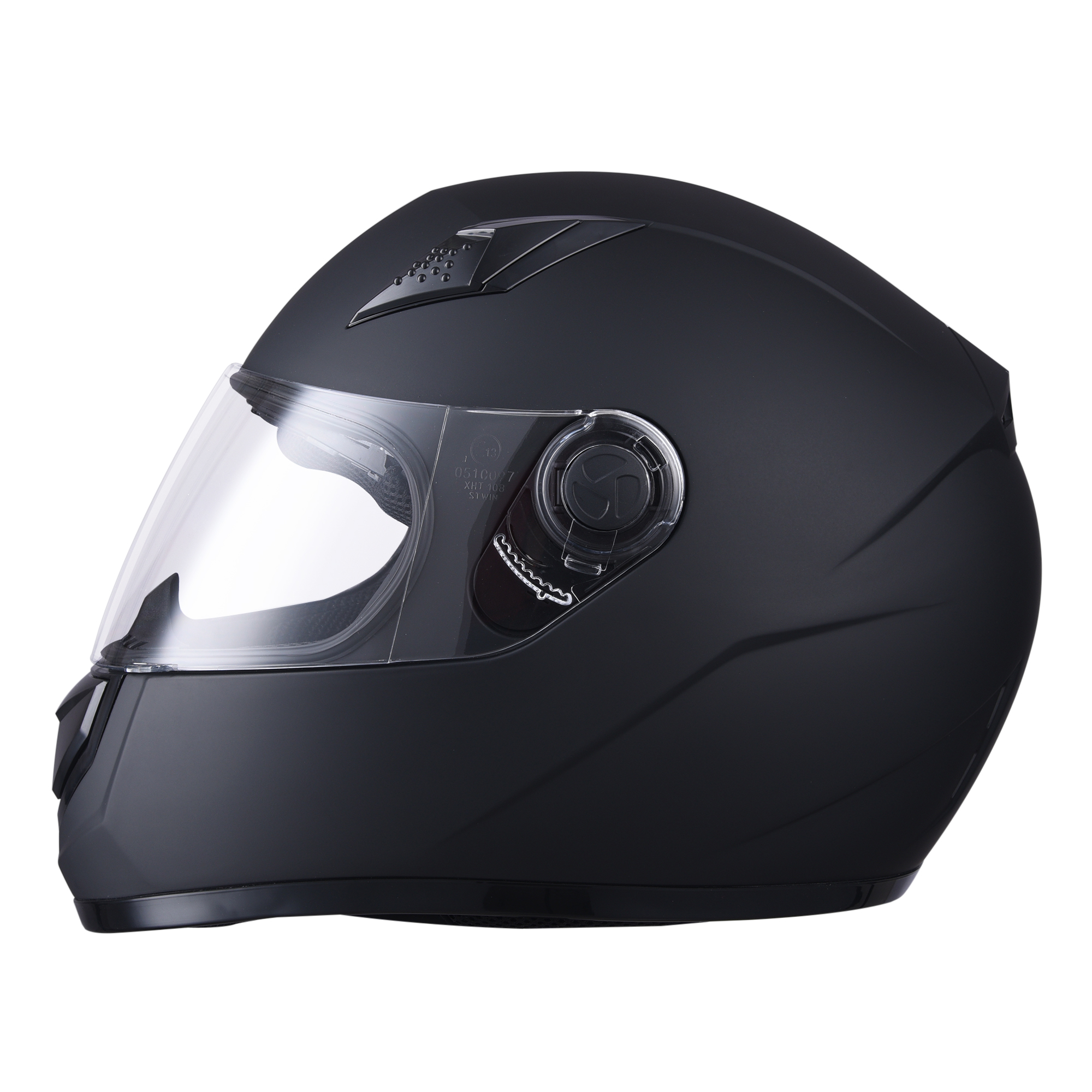 miniature 27 - AHR K12 Full Face Motorcycle Helmet DOT Air Vents Clear Visor Racing S M L XL