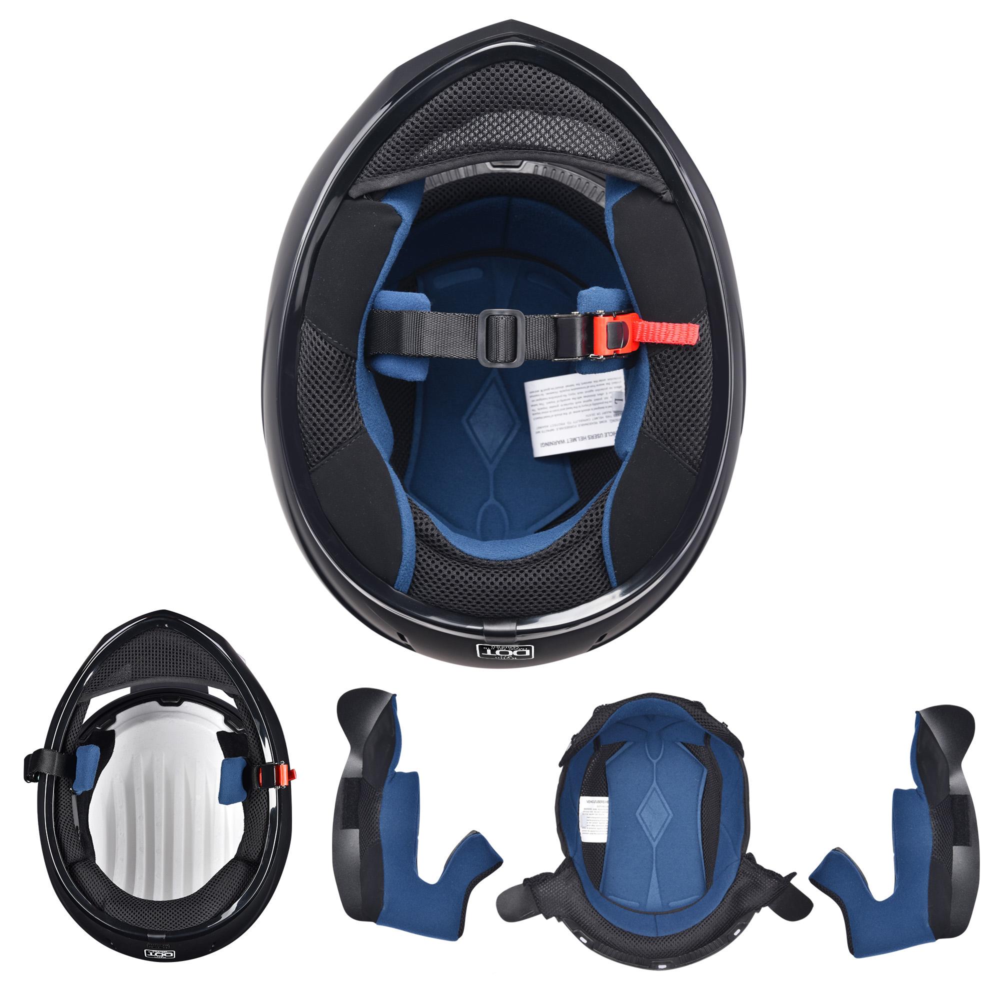 miniature 33 - AHR K12 Full Face Motorcycle Helmet DOT Air Vents Clear Visor Racing S M L XL