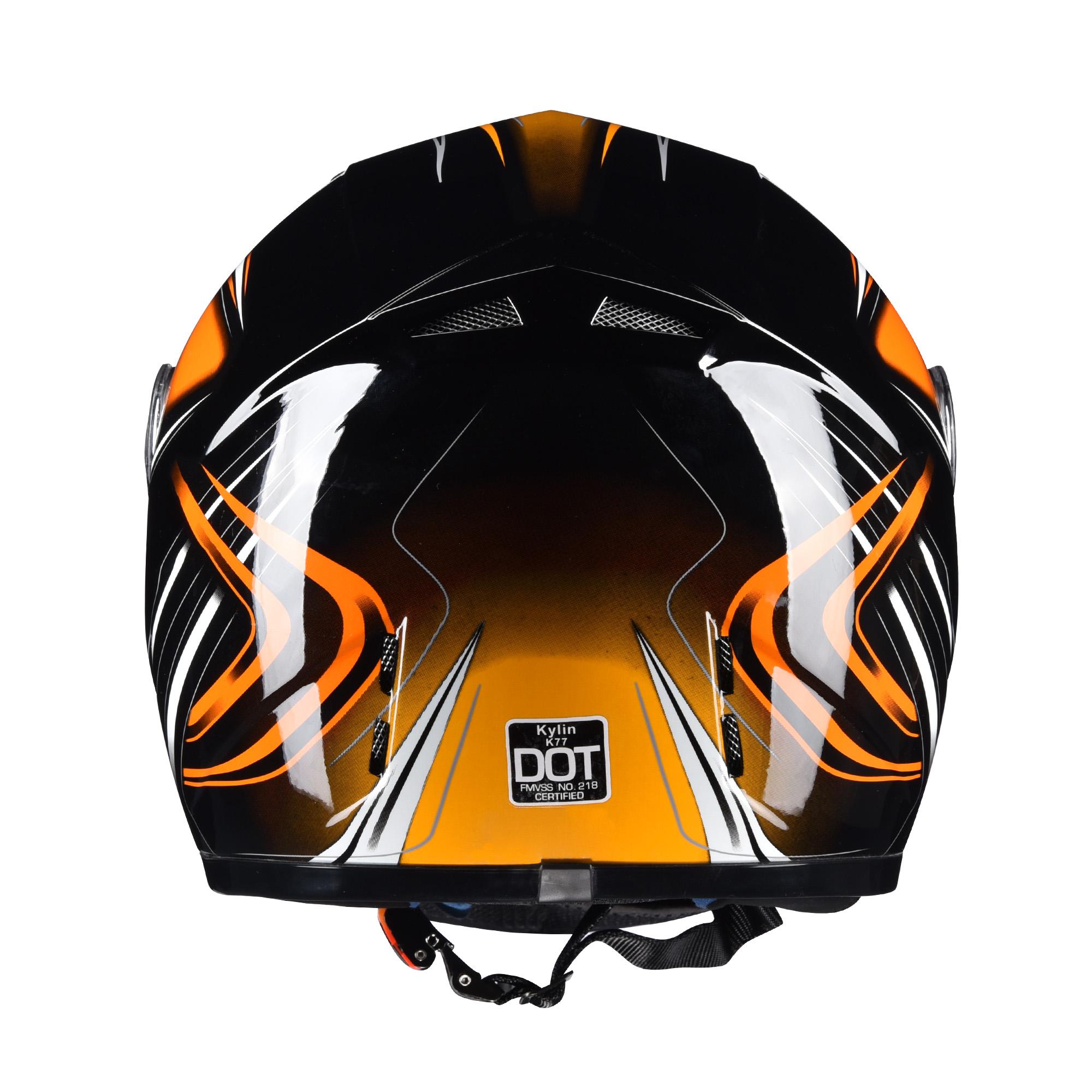 miniature 77 - AHR K12 Full Face Motorcycle Helmet DOT Air Vents Clear Visor Racing S M L XL
