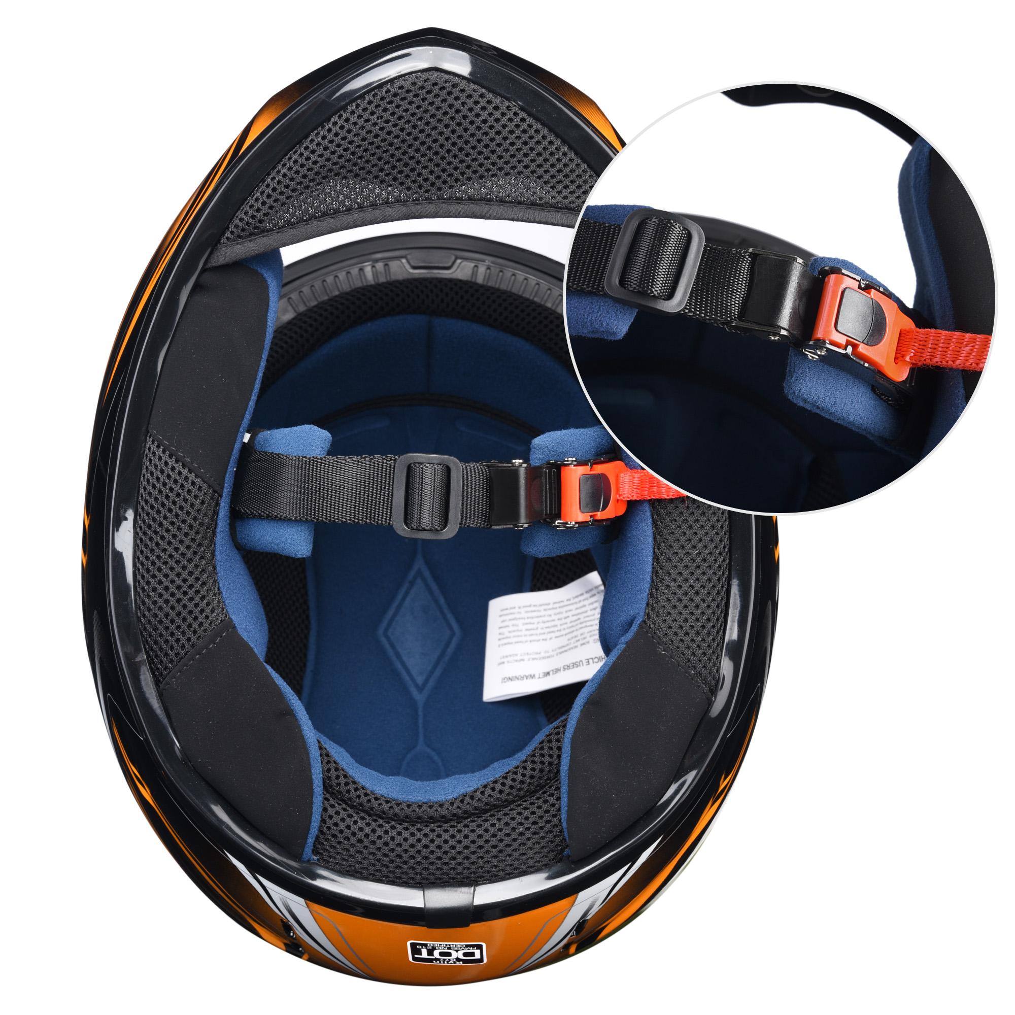 miniature 80 - AHR K12 Full Face Motorcycle Helmet DOT Air Vents Clear Visor Racing S M L XL