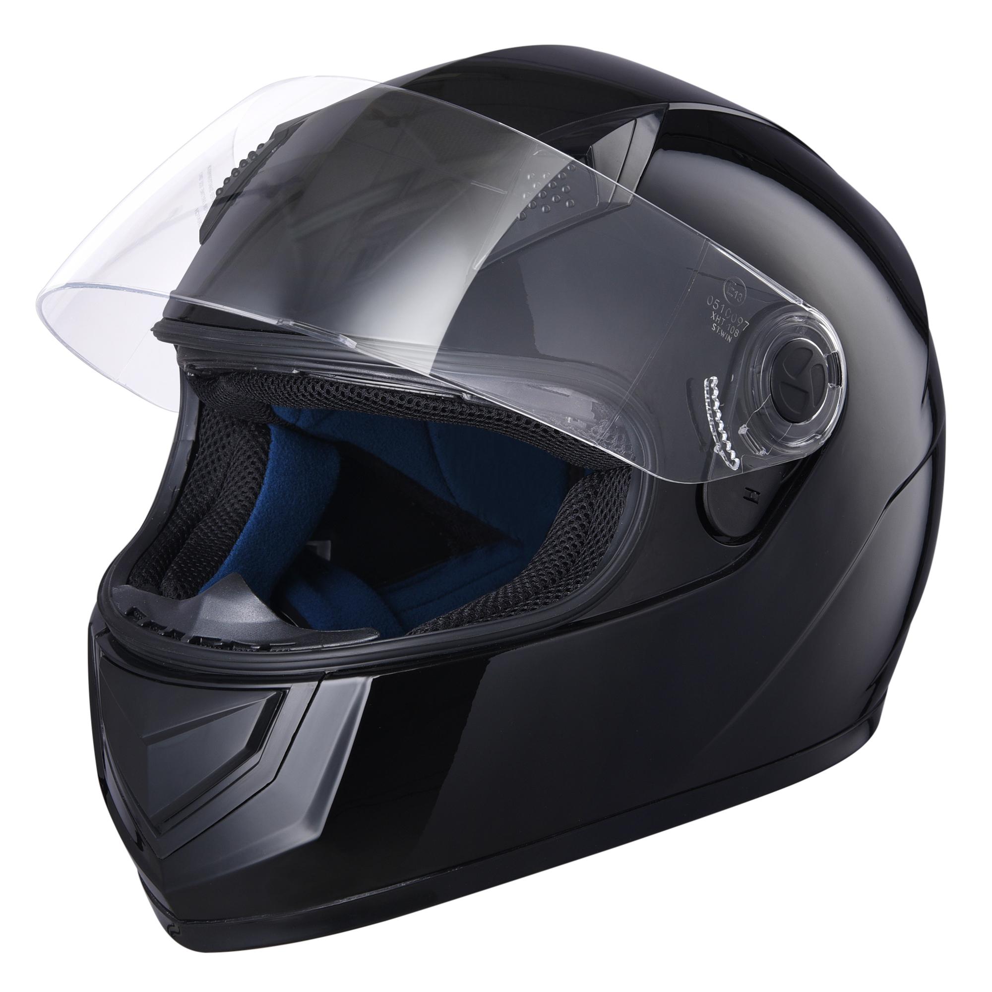 miniature 50 - AHR K12 Full Face Motorcycle Helmet DOT Air Vents Clear Visor Racing S M L XL