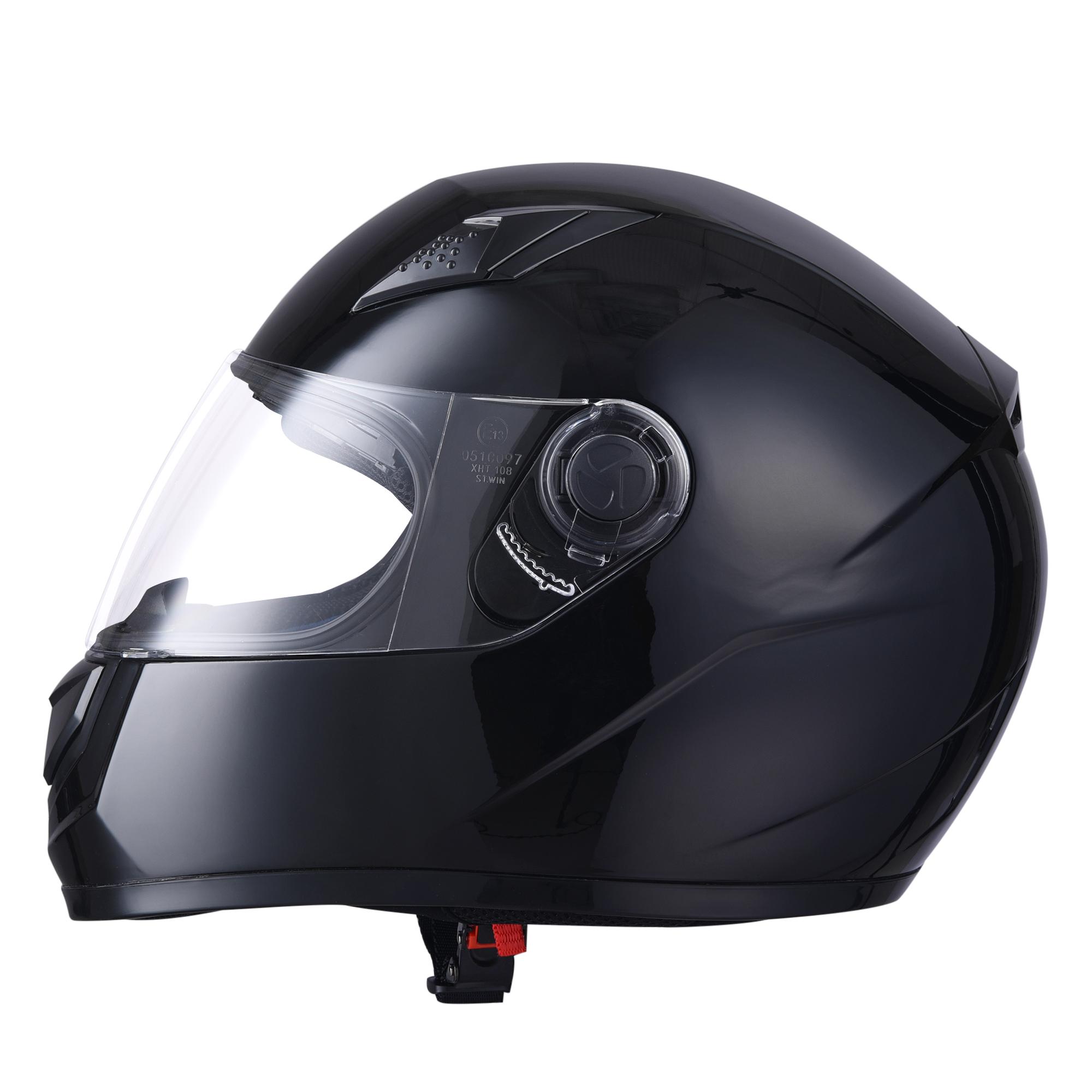 miniature 51 - AHR K12 Full Face Motorcycle Helmet DOT Air Vents Clear Visor Racing S M L XL