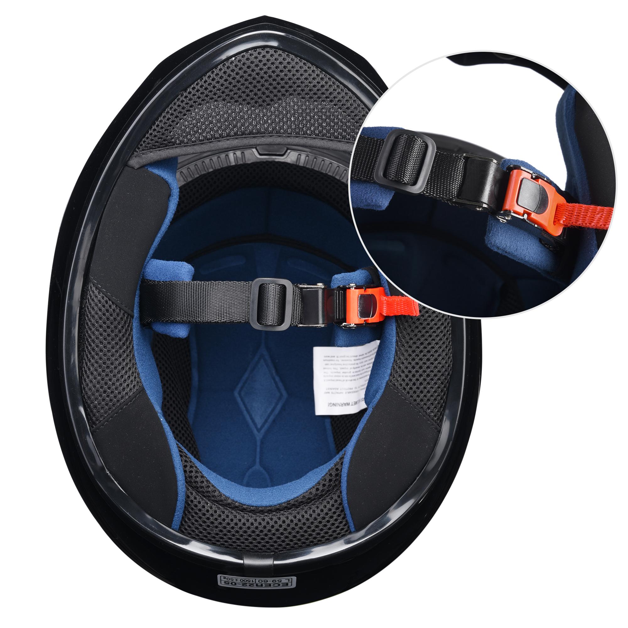 miniature 56 - AHR K12 Full Face Motorcycle Helmet DOT Air Vents Clear Visor Racing S M L XL