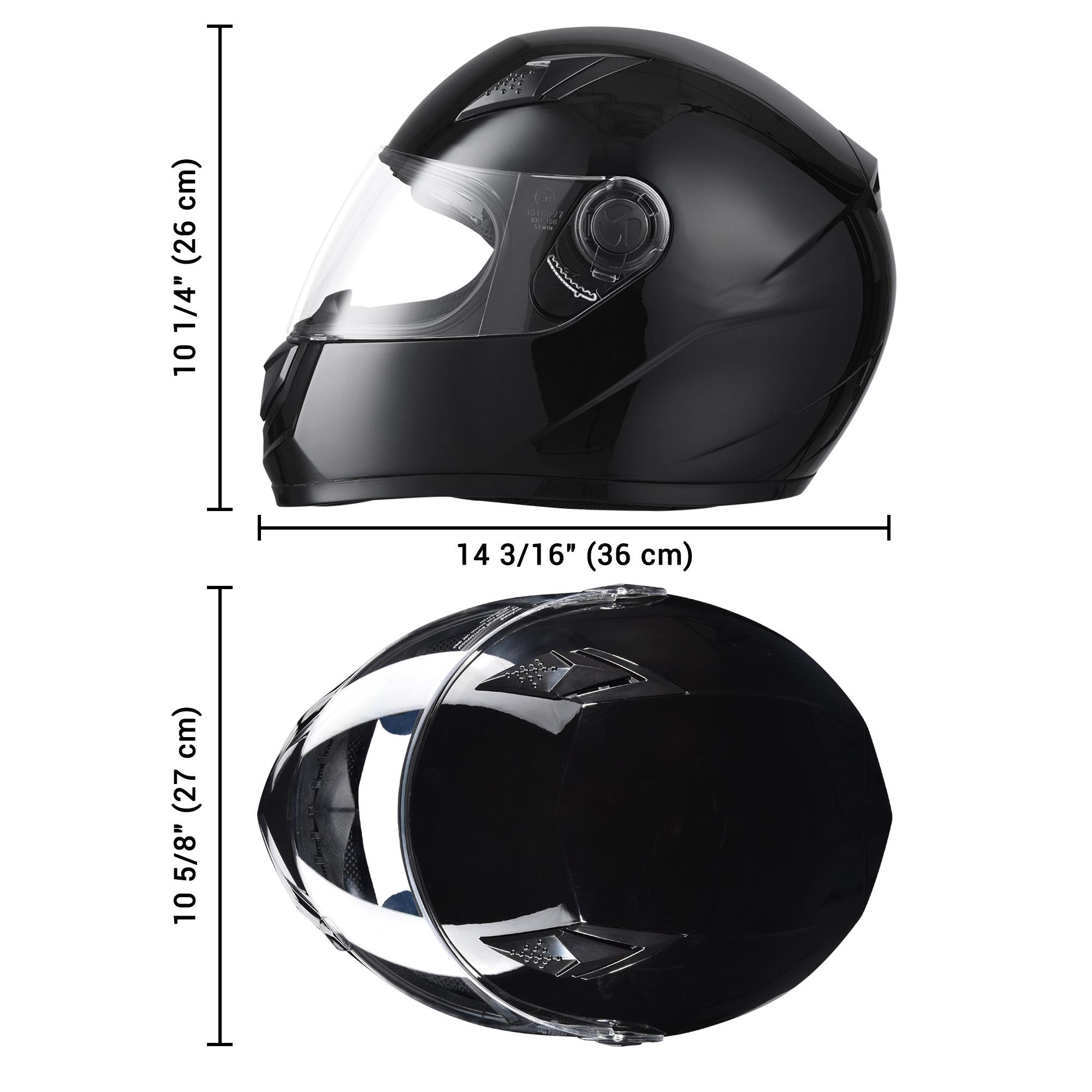 miniature 58 - AHR K12 Full Face Motorcycle Helmet DOT Air Vents Clear Visor Racing S M L XL