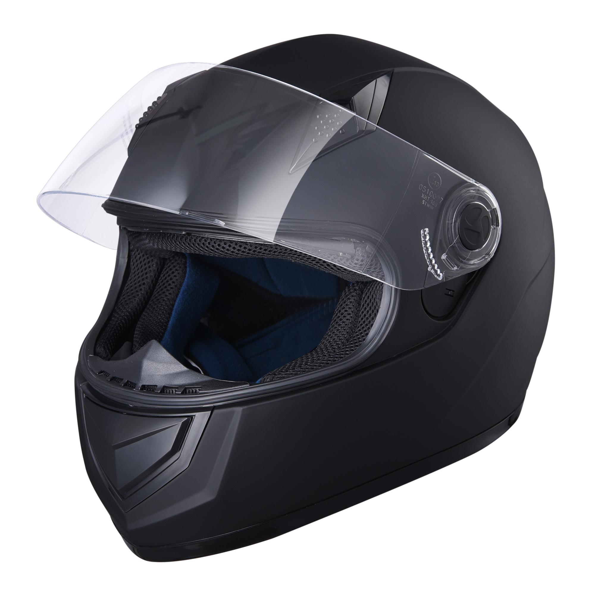 miniature 62 - AHR K12 Full Face Motorcycle Helmet DOT Air Vents Clear Visor Racing S M L XL