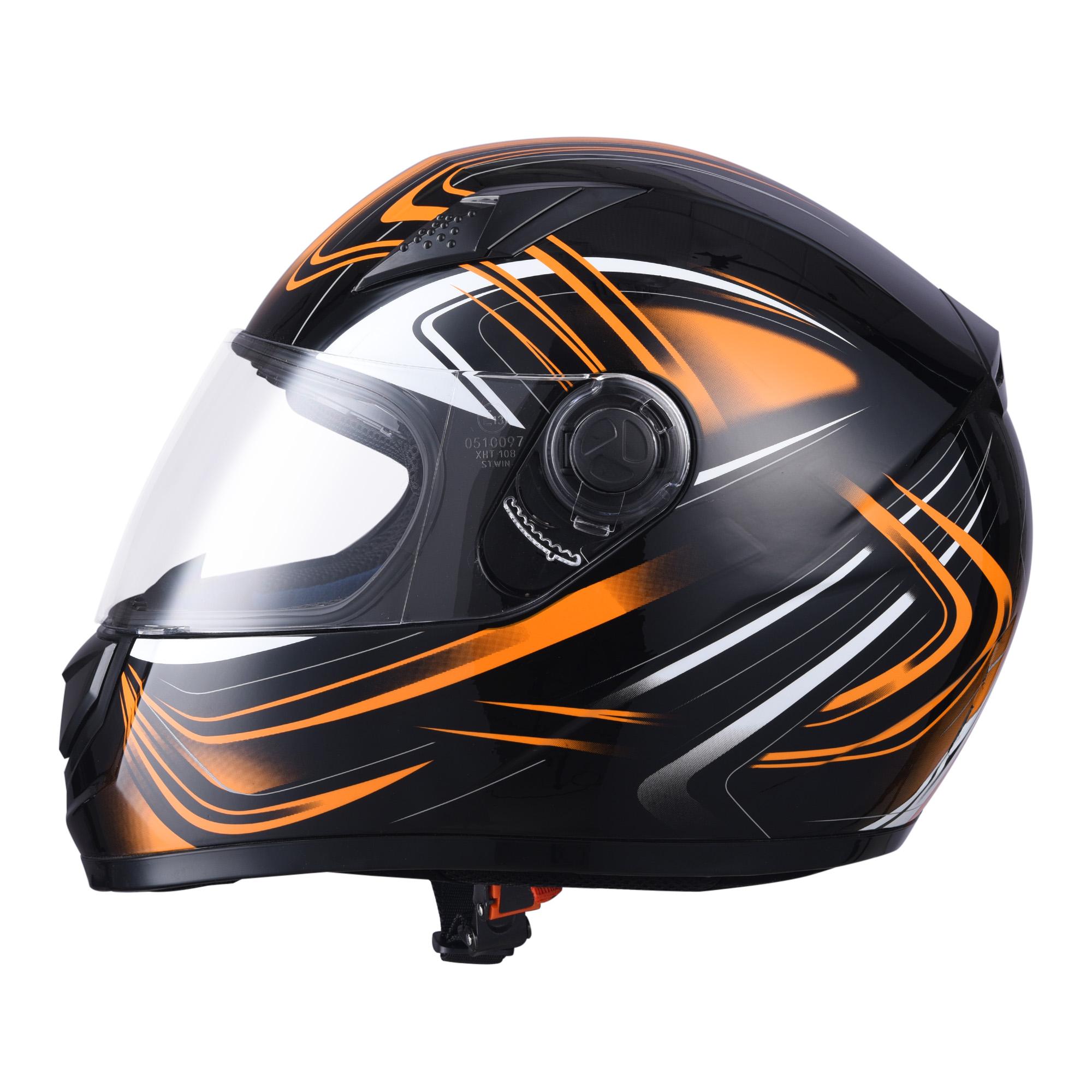 miniature 111 - AHR K12 Full Face Motorcycle Helmet DOT Air Vents Clear Visor Racing S M L XL