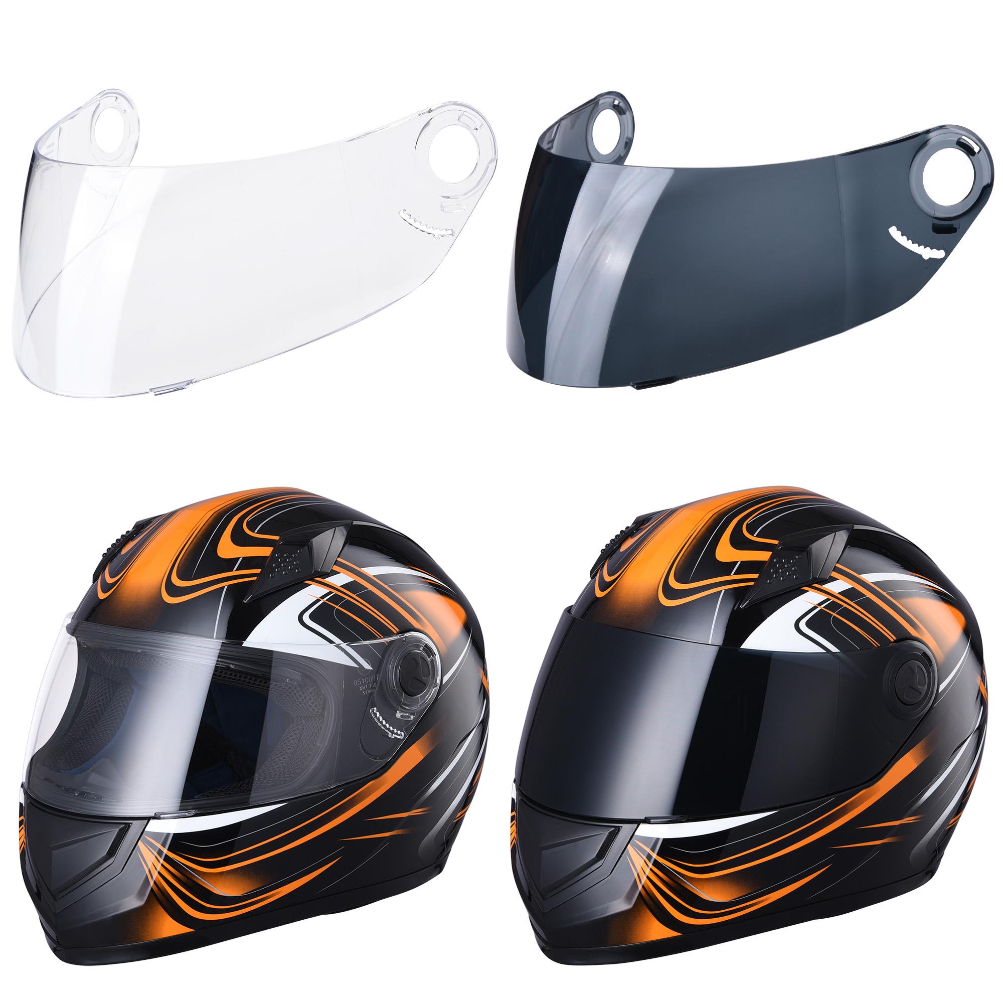 miniature 115 - AHR K12 Full Face Motorcycle Helmet DOT Air Vents Clear Visor Racing S M L XL