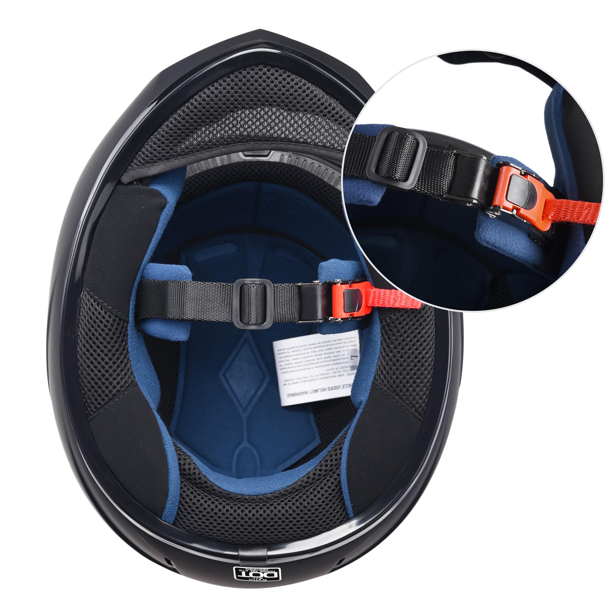 miniature 104 - AHR K12 Full Face Motorcycle Helmet DOT Air Vents Clear Visor Racing S M L XL