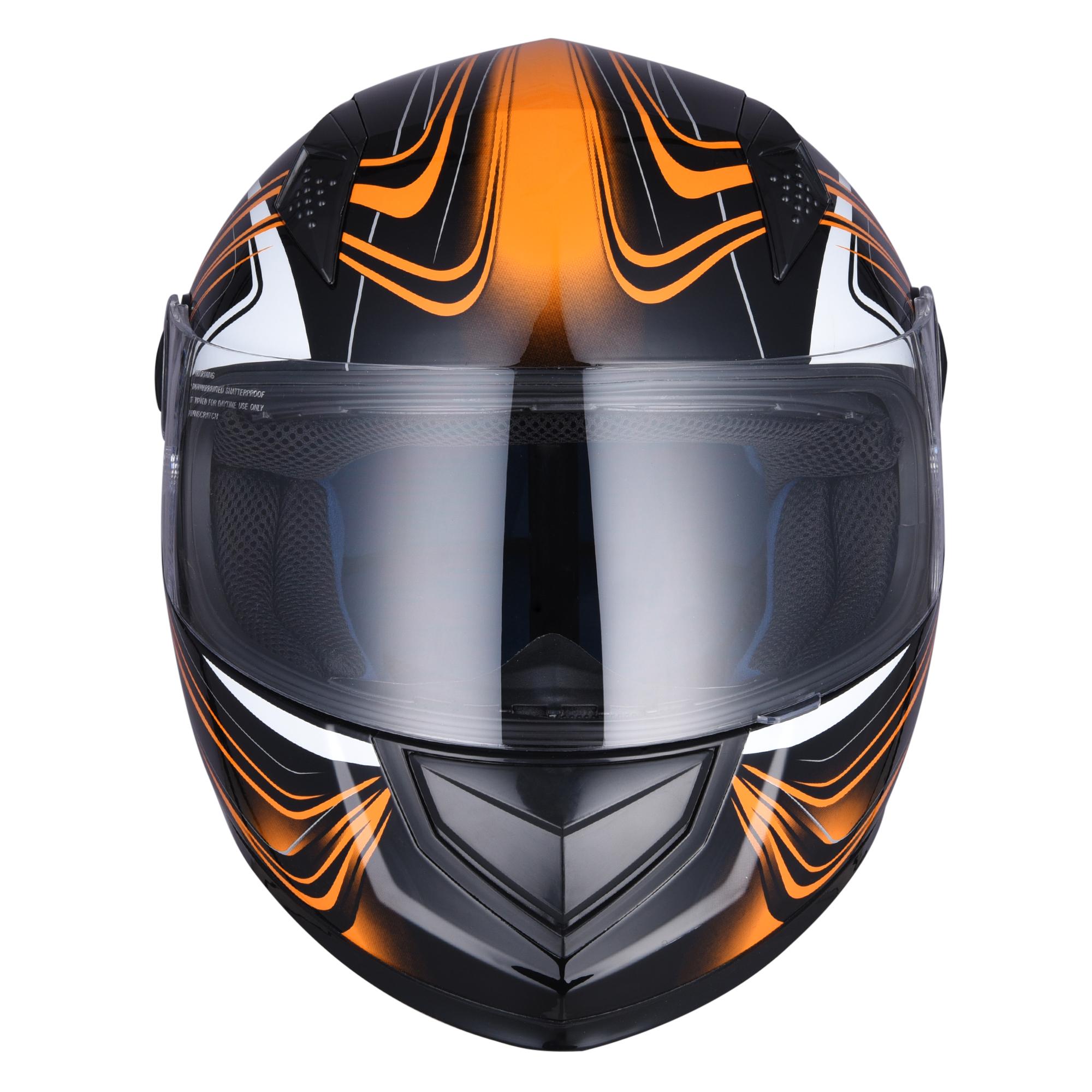 miniature 144 - AHR K12 Full Face Motorcycle Helmet DOT Air Vents Clear Visor Racing S M L XL