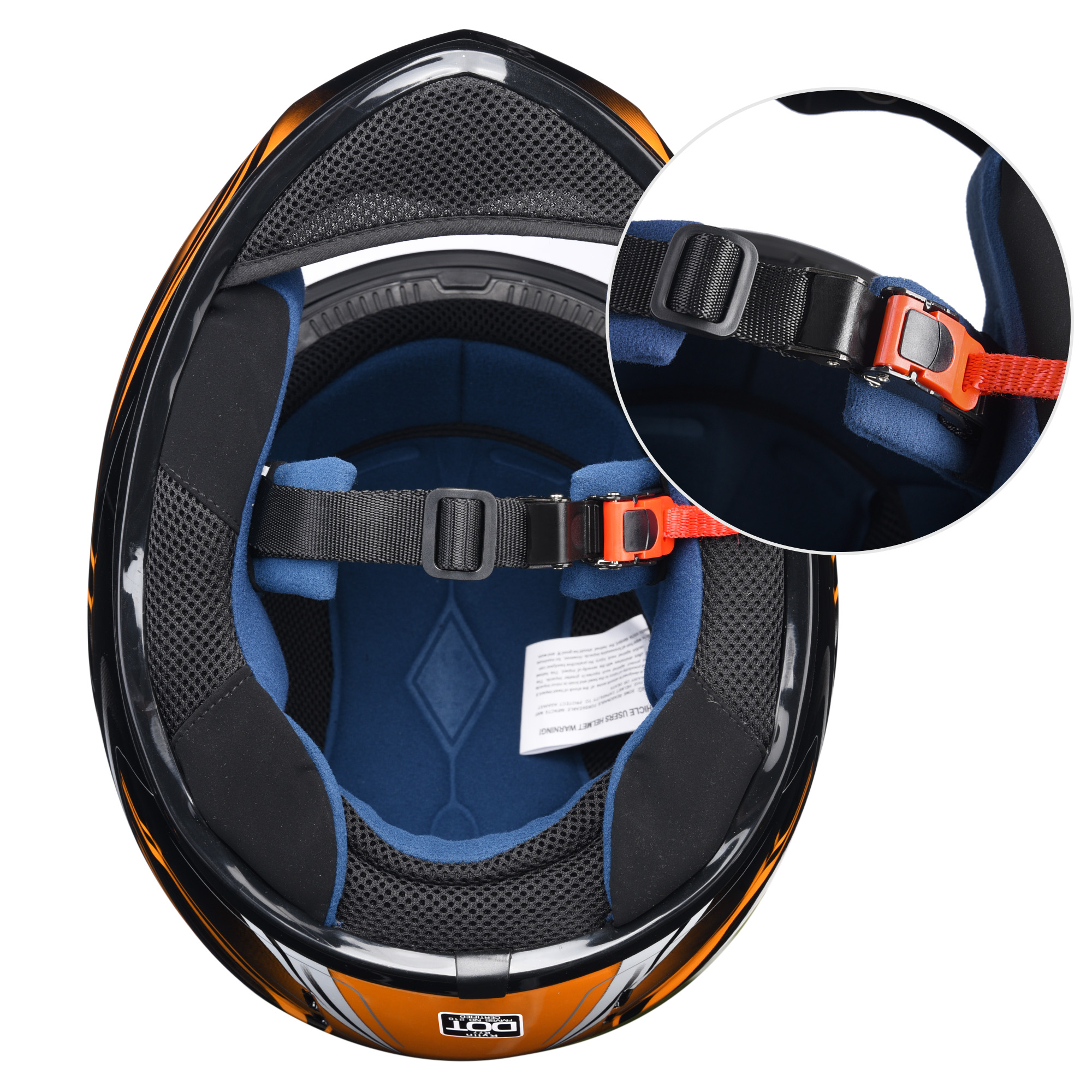 miniature 150 - AHR K12 Full Face Motorcycle Helmet DOT Air Vents Clear Visor Racing S M L XL
