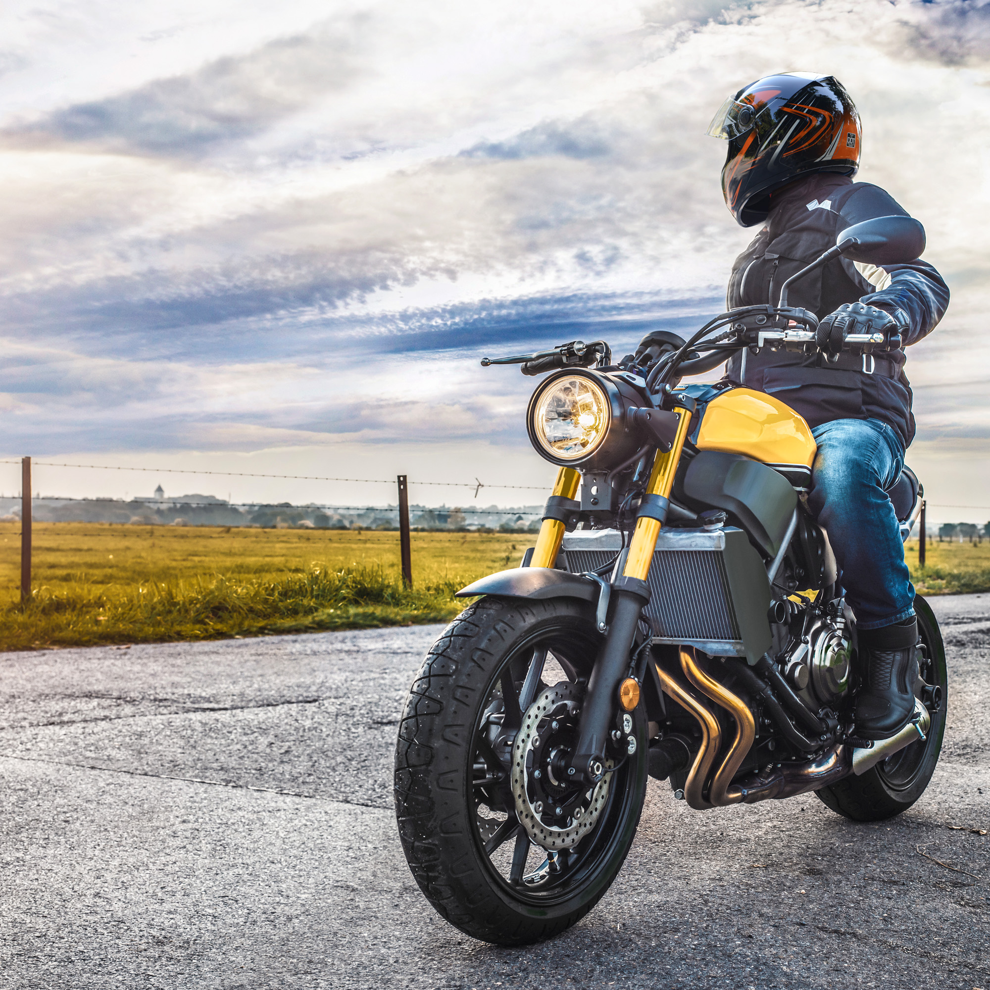 miniature 154 - AHR K12 Full Face Motorcycle Helmet DOT Air Vents Clear Visor Racing S M L XL
