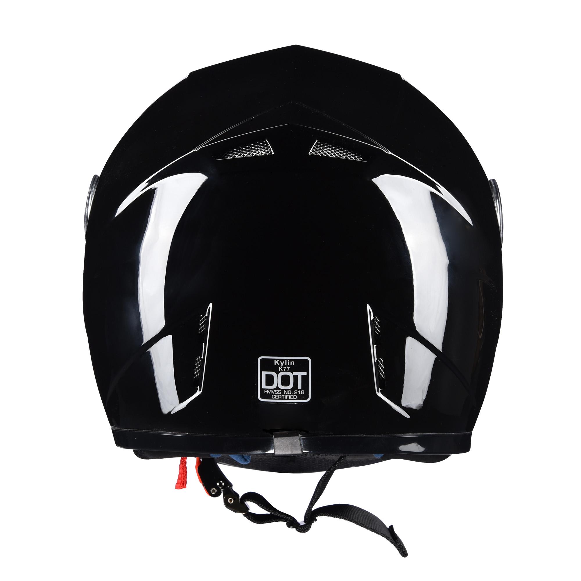 miniature 125 - AHR K12 Full Face Motorcycle Helmet DOT Air Vents Clear Visor Racing S M L XL