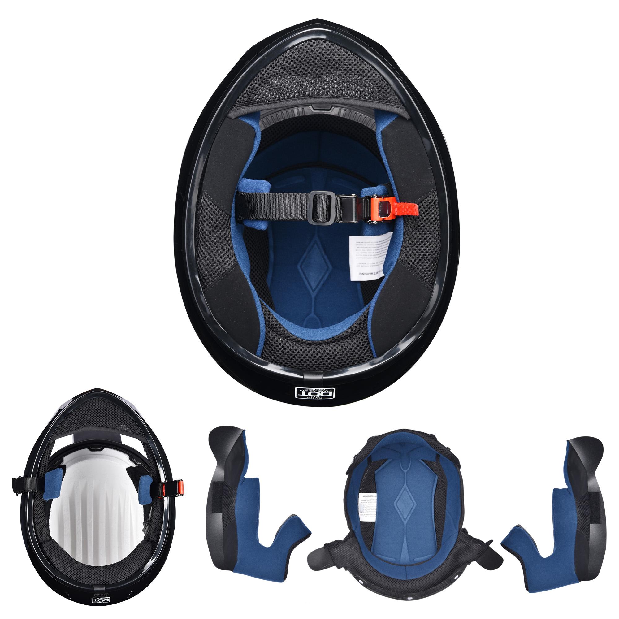 miniature 129 - AHR K12 Full Face Motorcycle Helmet DOT Air Vents Clear Visor Racing S M L XL