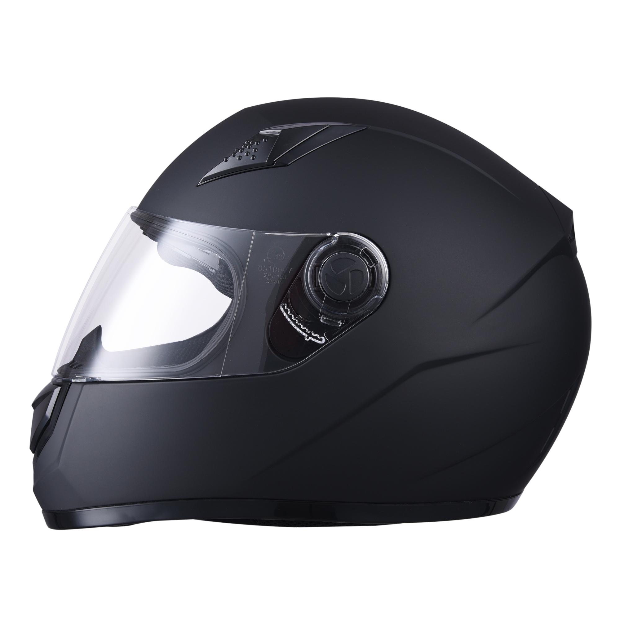 miniature 134 - AHR K12 Full Face Motorcycle Helmet DOT Air Vents Clear Visor Racing S M L XL
