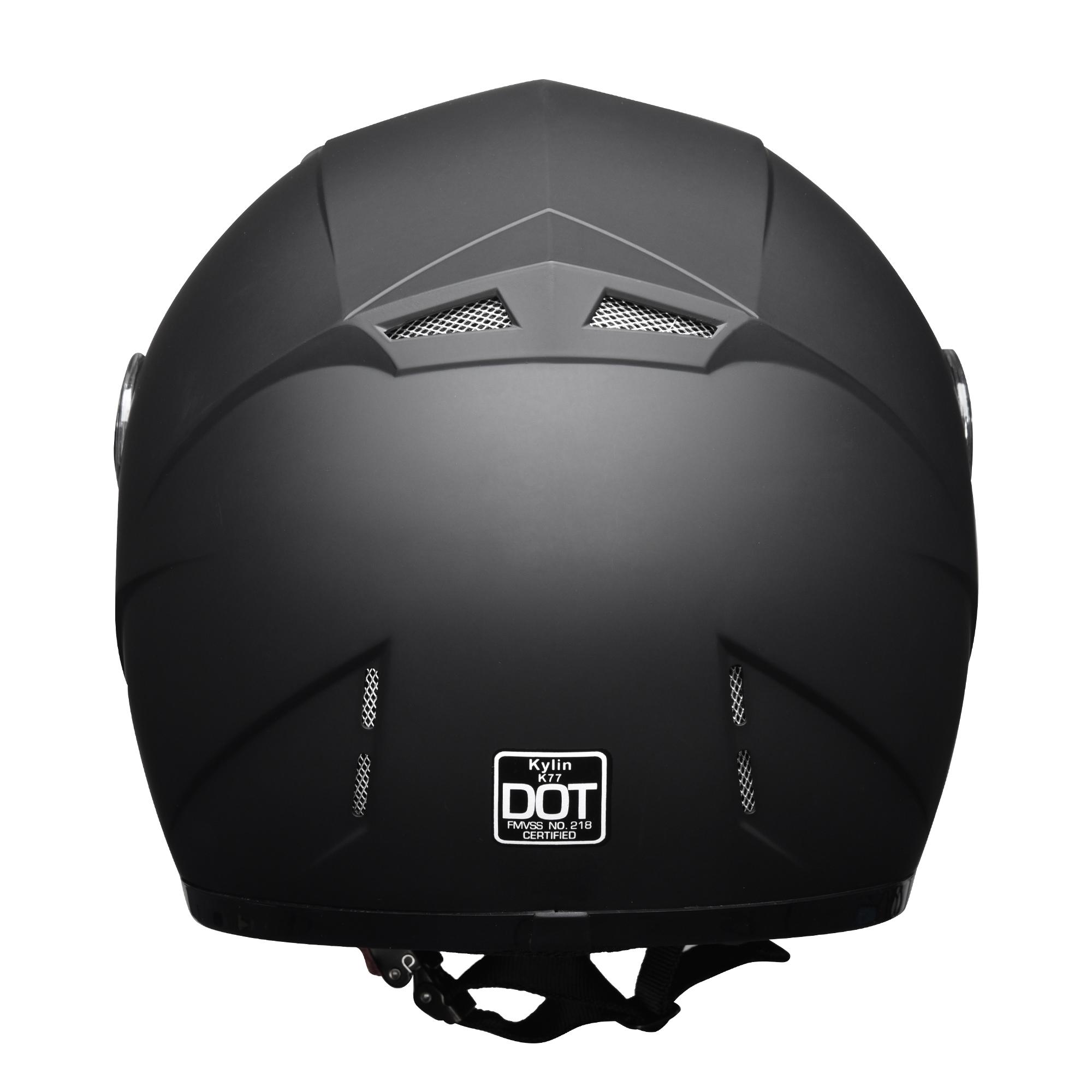 miniature 136 - AHR K12 Full Face Motorcycle Helmet DOT Air Vents Clear Visor Racing S M L XL