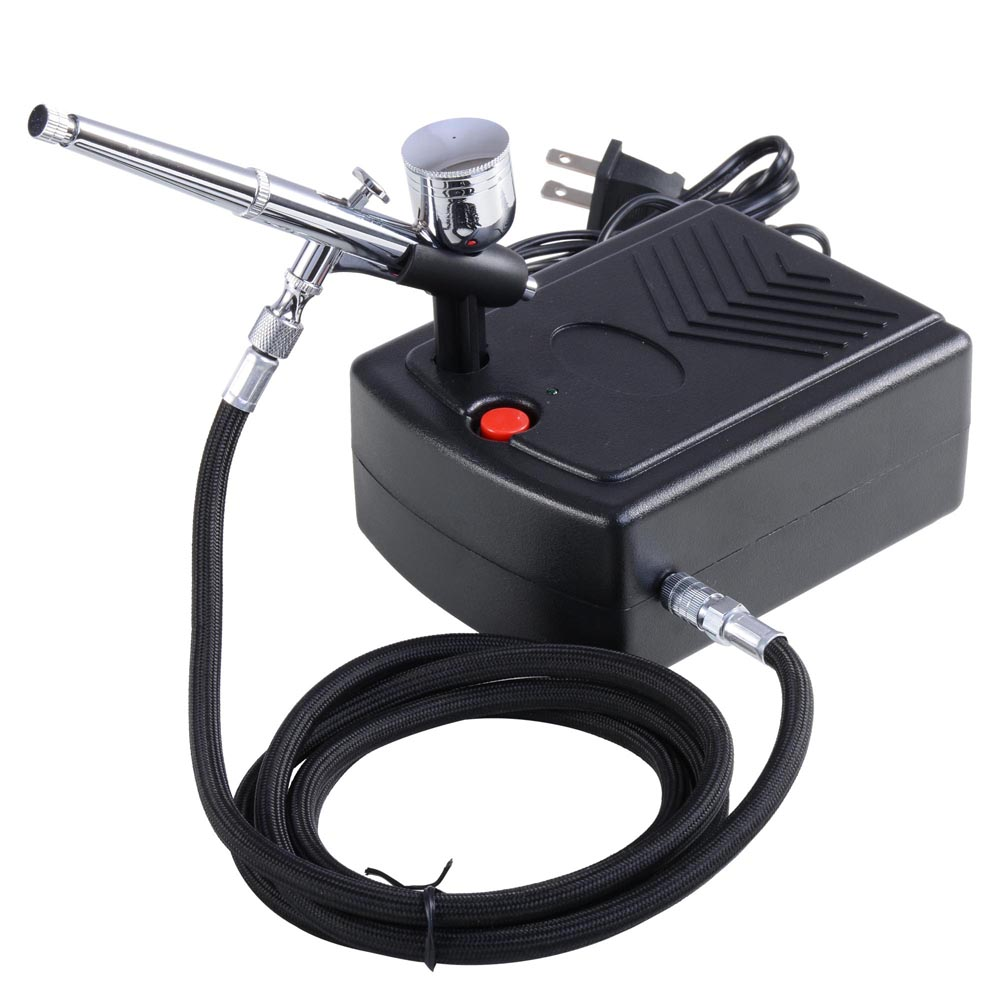 Dual action airbrush compressor kit 03mm nozzle nail art tattoo t dual action airbrush compressor kit 03mm nozzle nail art tattoo t shirt spray prinsesfo Choice Image