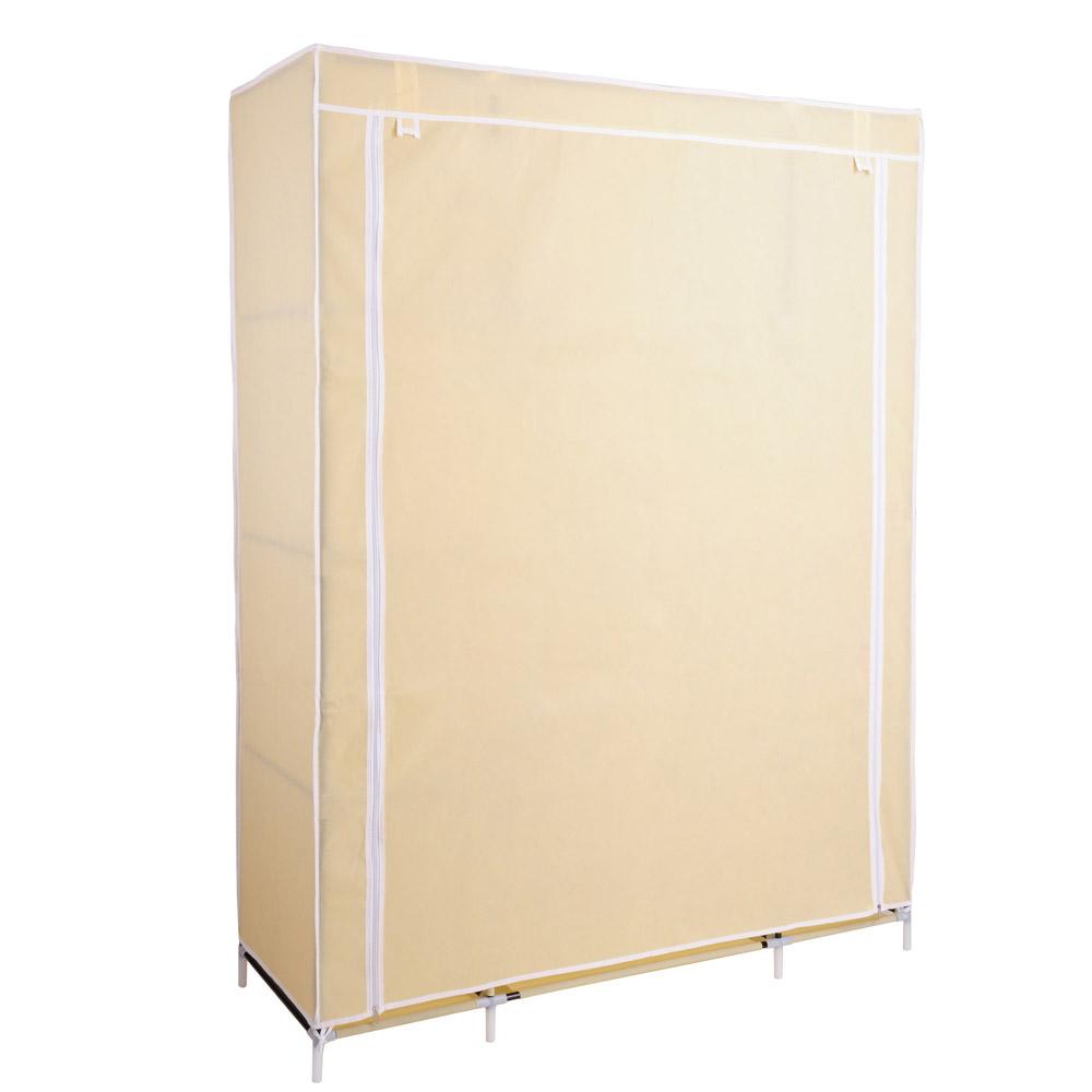 """50"""" Portable Wardrobe Organizer Clothes Closet Rack"""