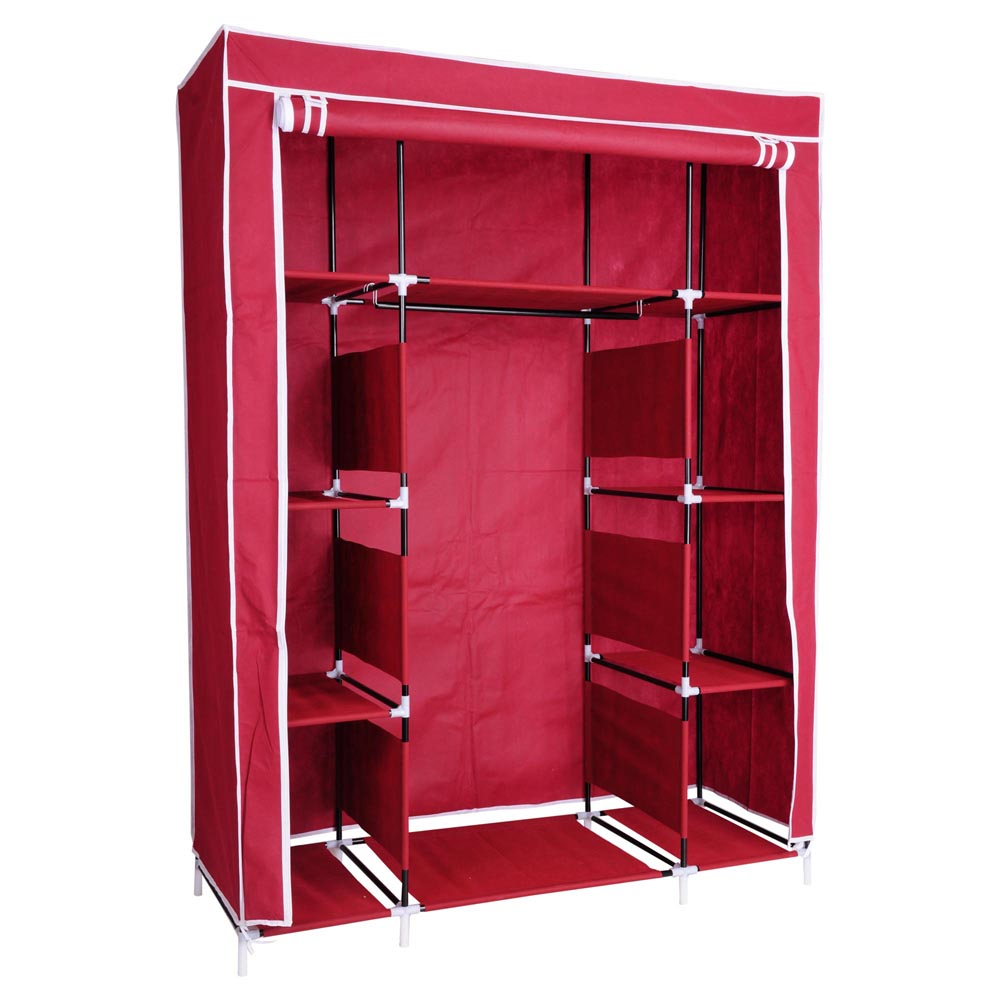 50 Quot Portable Wardrobe Organizer Clothes Closet Rack
