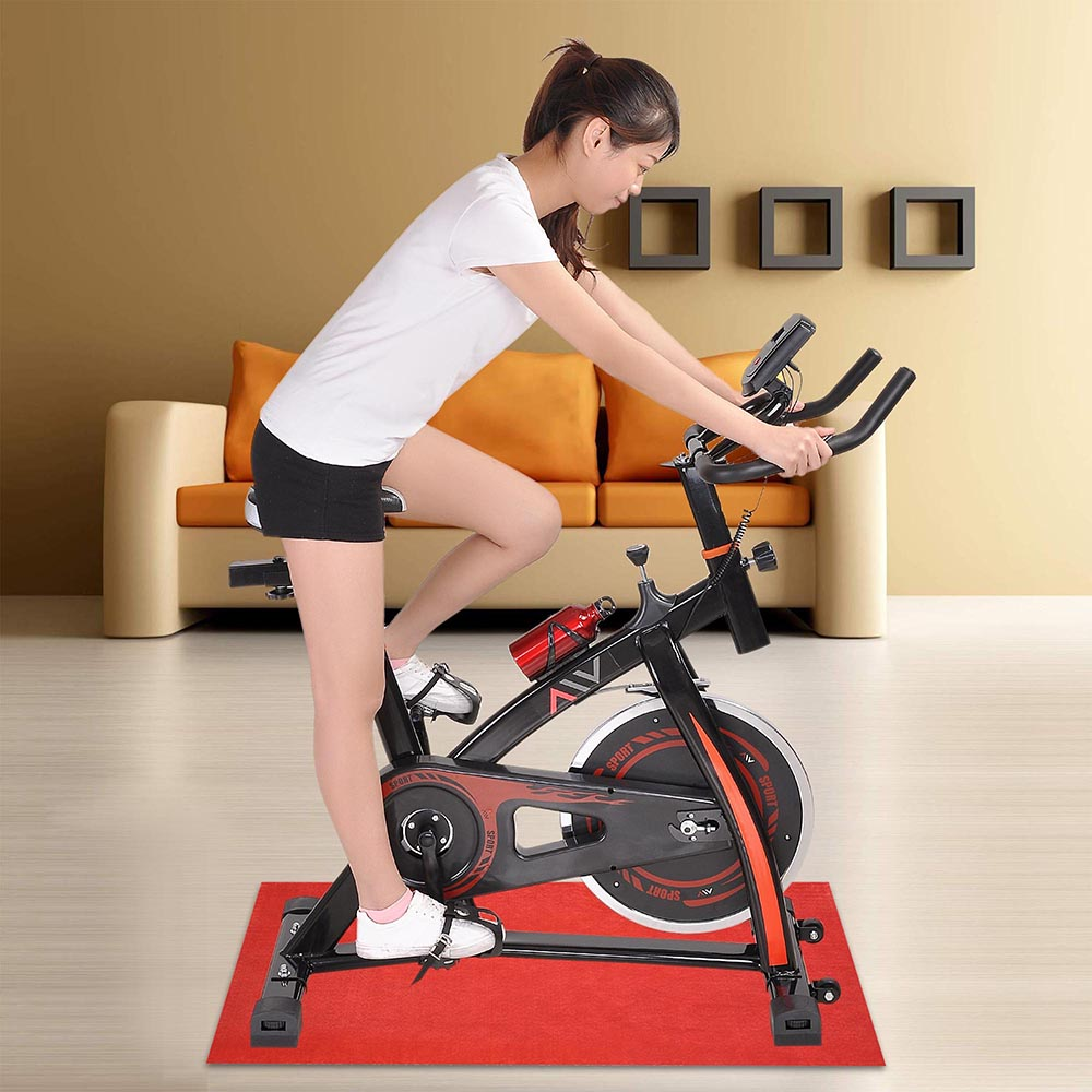 aw exercise spin bike home gym bicycle cycling cardio. Black Bedroom Furniture Sets. Home Design Ideas