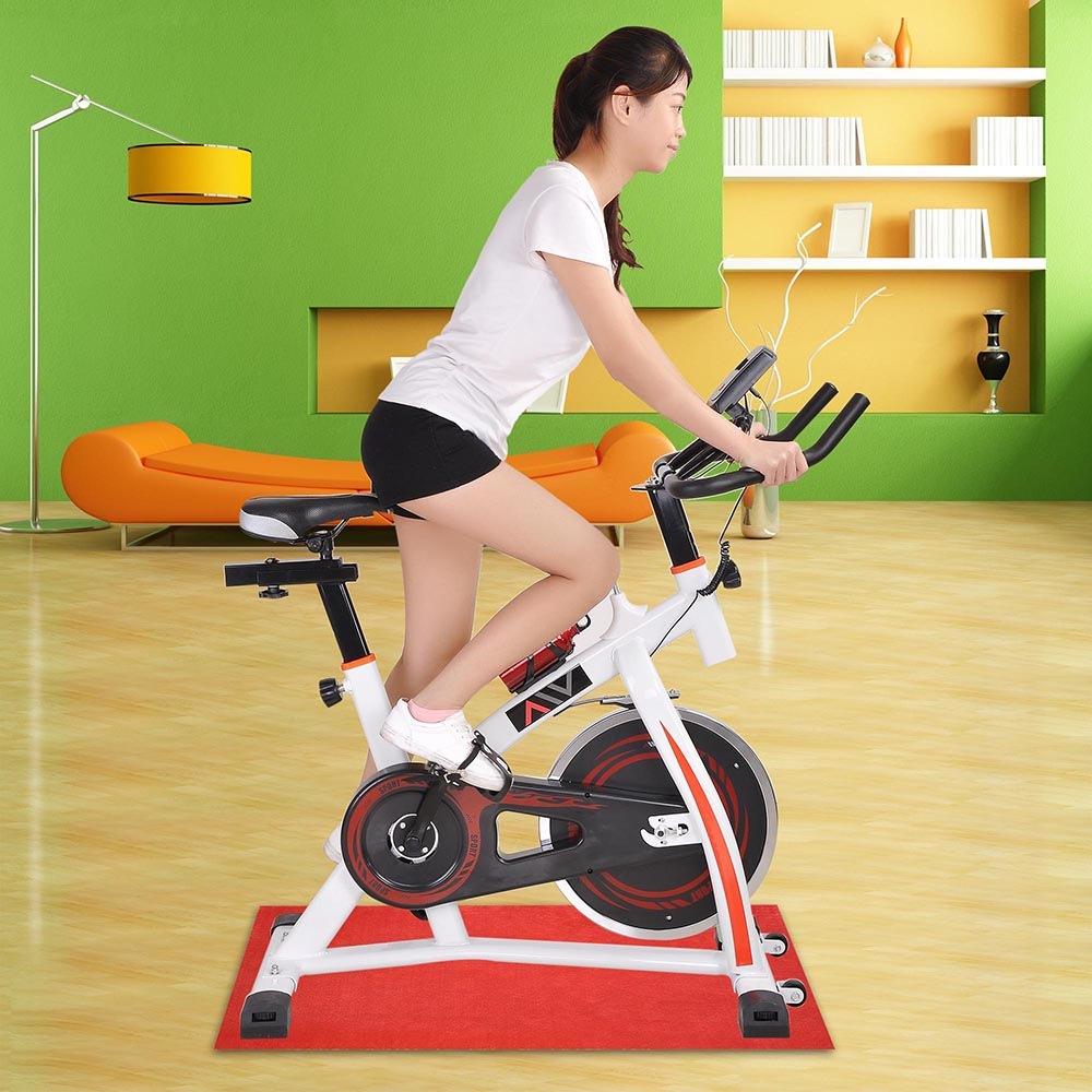 exercise spin bike home gym bicycle cycling cardio fitness. Black Bedroom Furniture Sets. Home Design Ideas
