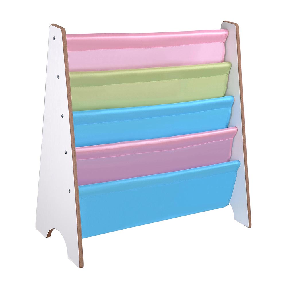 Wooden-Kids-Childrens-Book-Shelf-Sling-Storage-Rack-Organizer-Bookcase-Bookshelf