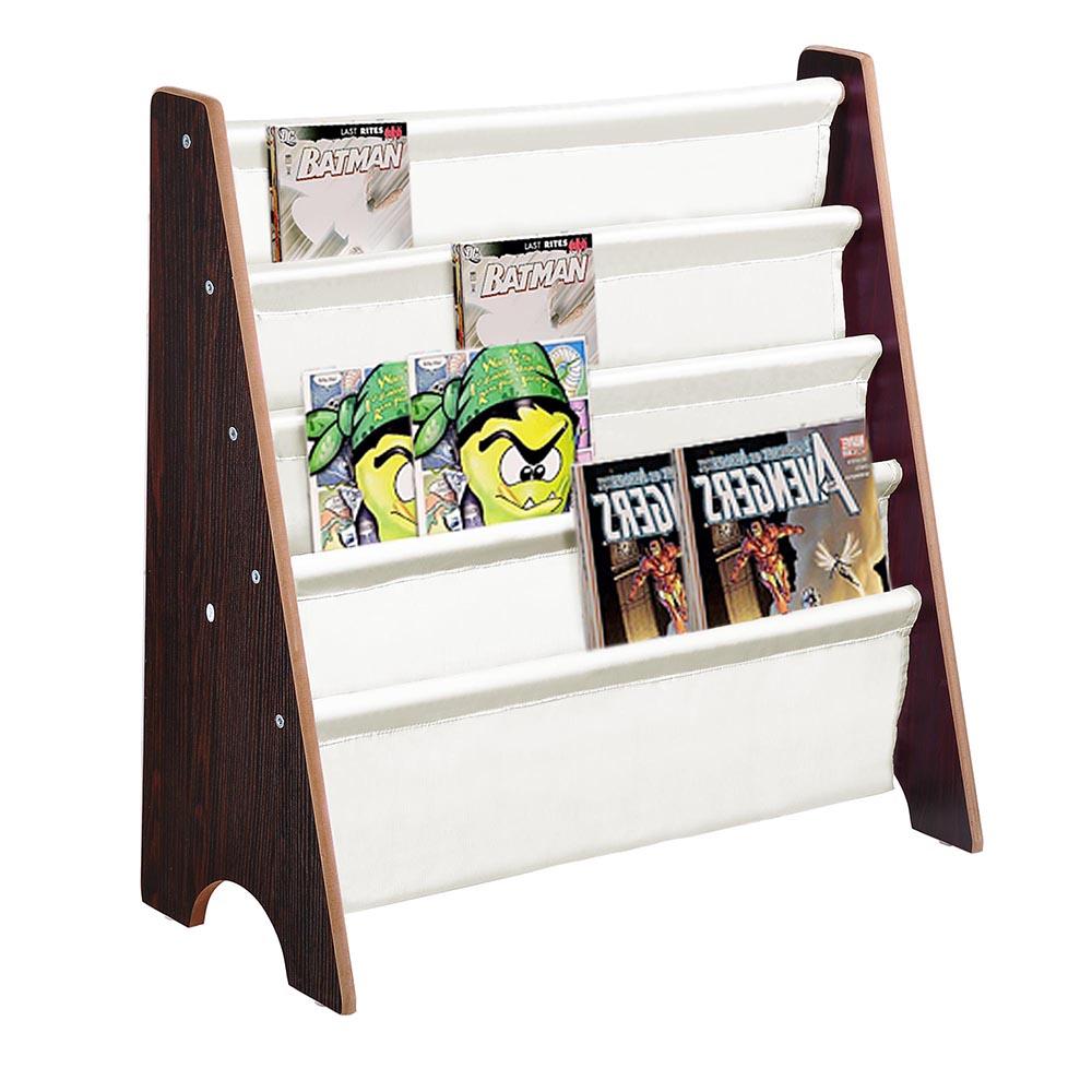 Wooden-Kids-Childrens-Book-Shelf-Sling-Storage-Rack-Organizer-Bookcase-Bookshelf
