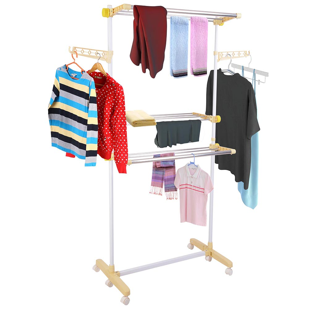 Outdoor Cloth Dryer ~ Tier folding airer in outdoor clothes tower dryer hanger