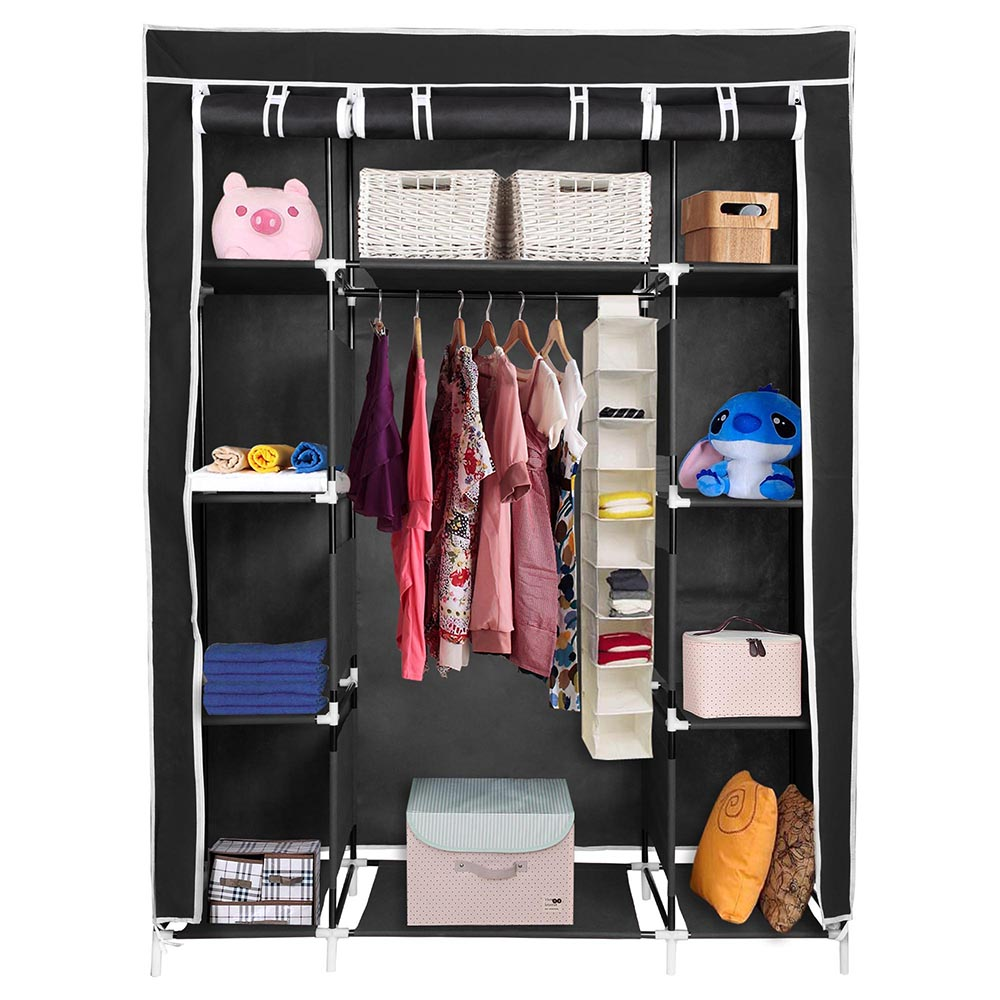 organizer w closet clothes free portable shipping garden cube diy cabinet overstock today wardrobe costway doors product home storage