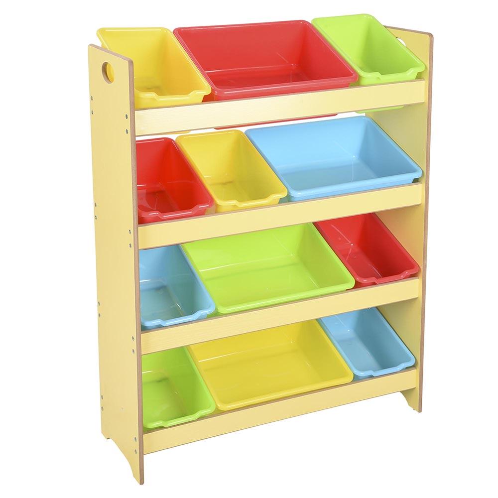 Minnie Mouse Bedroom 3 Drawer Storage Kids Wooden Box Pink: Toys Storage Children Kids Shelf Rack Plastic Boxes Tubs