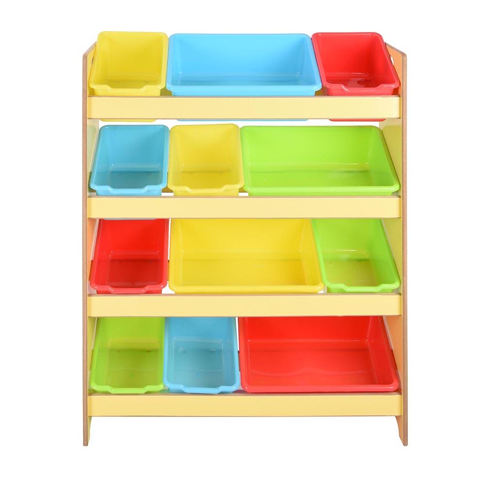 toys storage children kids shelf rack plastic boxes tubs bins bedroom colour opt ebay. Black Bedroom Furniture Sets. Home Design Ideas