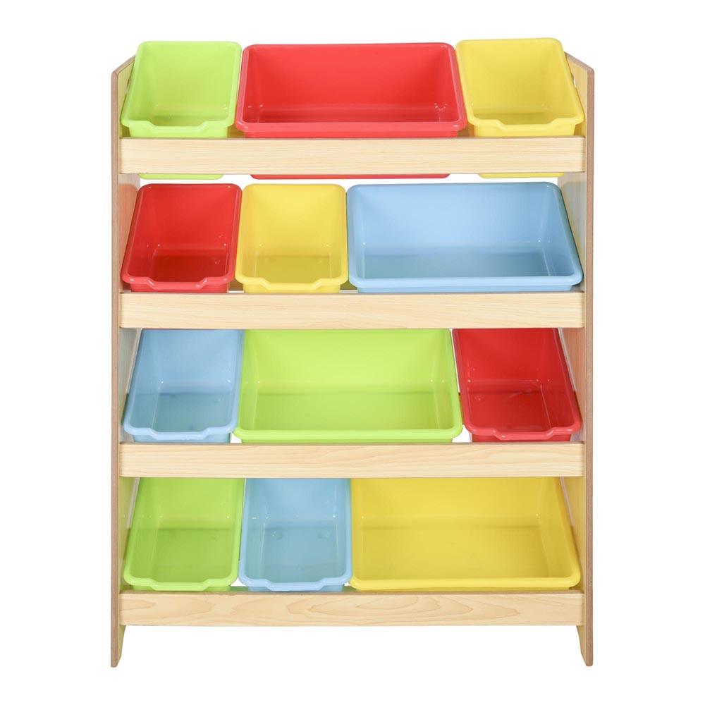 New Bookcase Toy Box White Finish Bedroom Playroom Child: Toys Storage Children Kids Shelf Rack Plastic Boxes Tubs