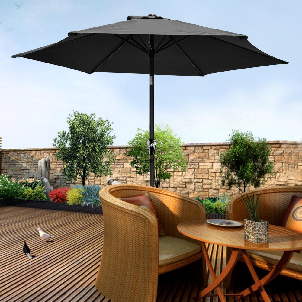 2-5m-2-7m-3m-Round-Square-Garden-Parasol-Shade-Outdoor-Patio-Umbrella-Crank-Tilt thumbnail 50