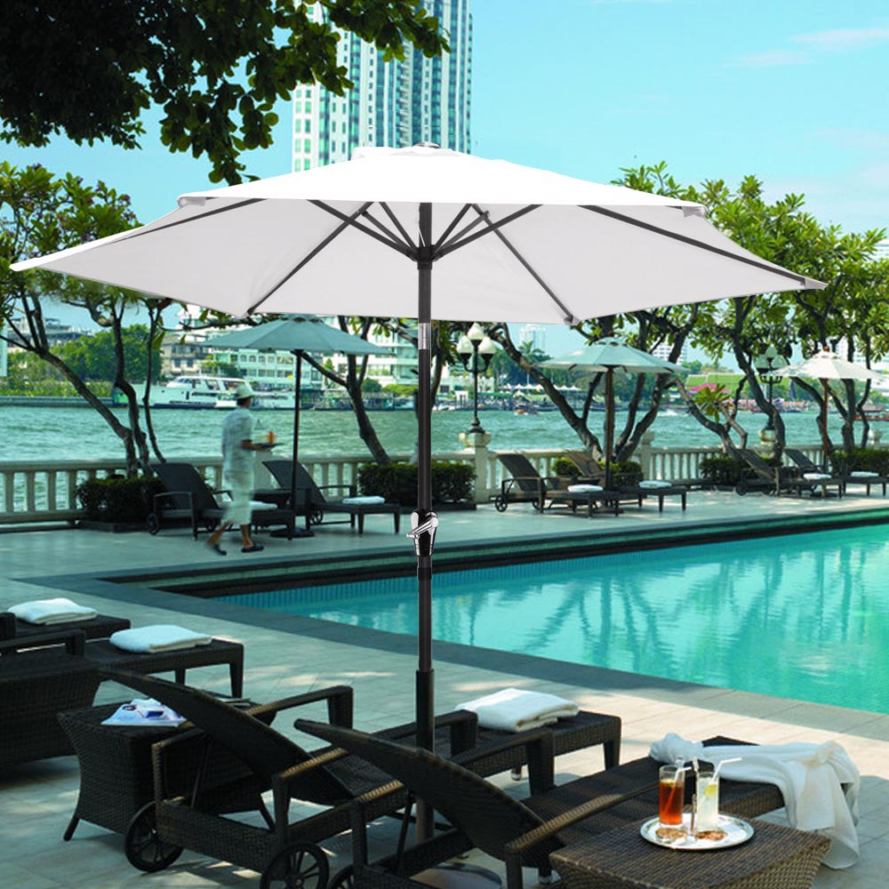 2-5m-2-7m-3m-Round-Square-Garden-Parasol-Shade-Outdoor-Patio-Umbrella-Crank-Tilt thumbnail 75