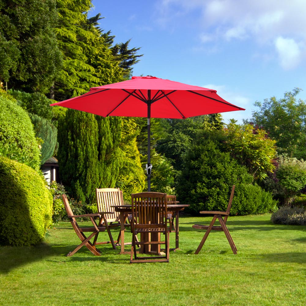 2-5m-2-7m-3m-Round-Square-Garden-Parasol-Shade-Outdoor-Patio-Umbrella-Crank-Tilt thumbnail 64