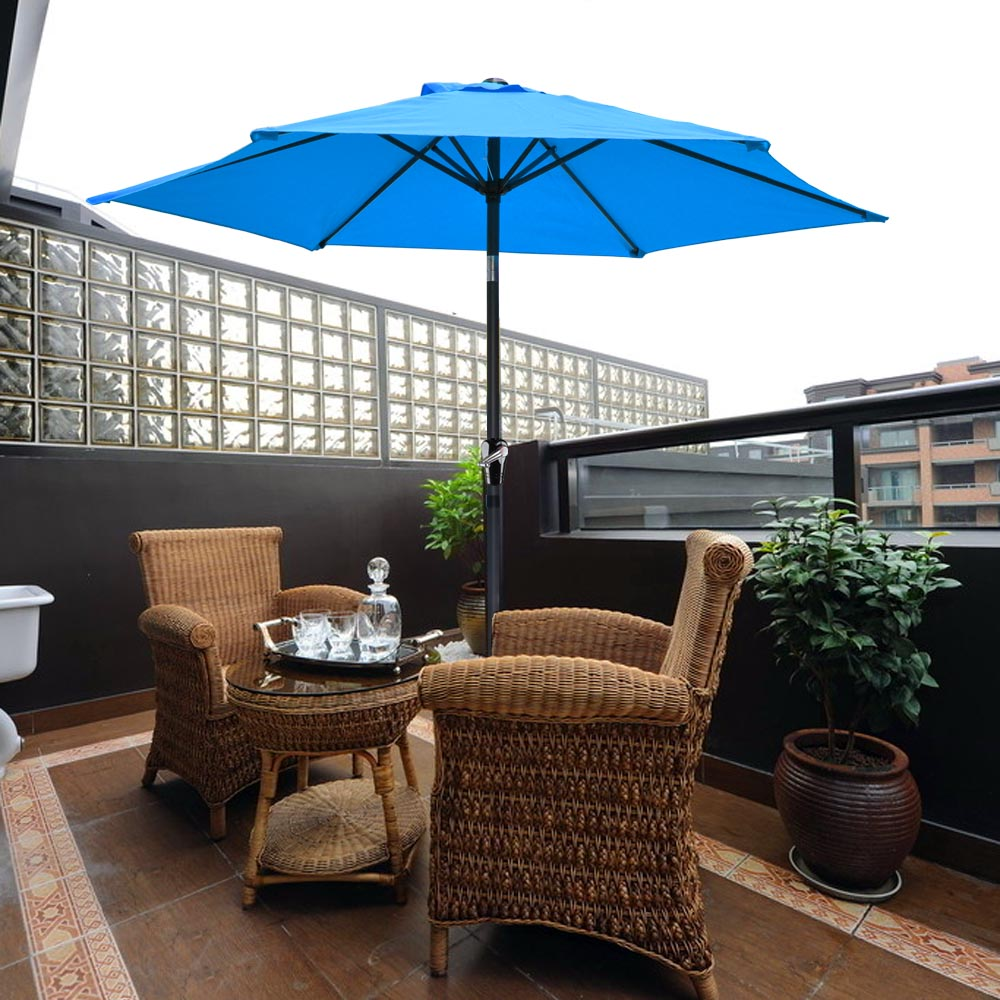 2-5m-2-7m-3m-Round-Square-Garden-Parasol-Shade-Outdoor-Patio-Umbrella-Crank-Tilt thumbnail 52
