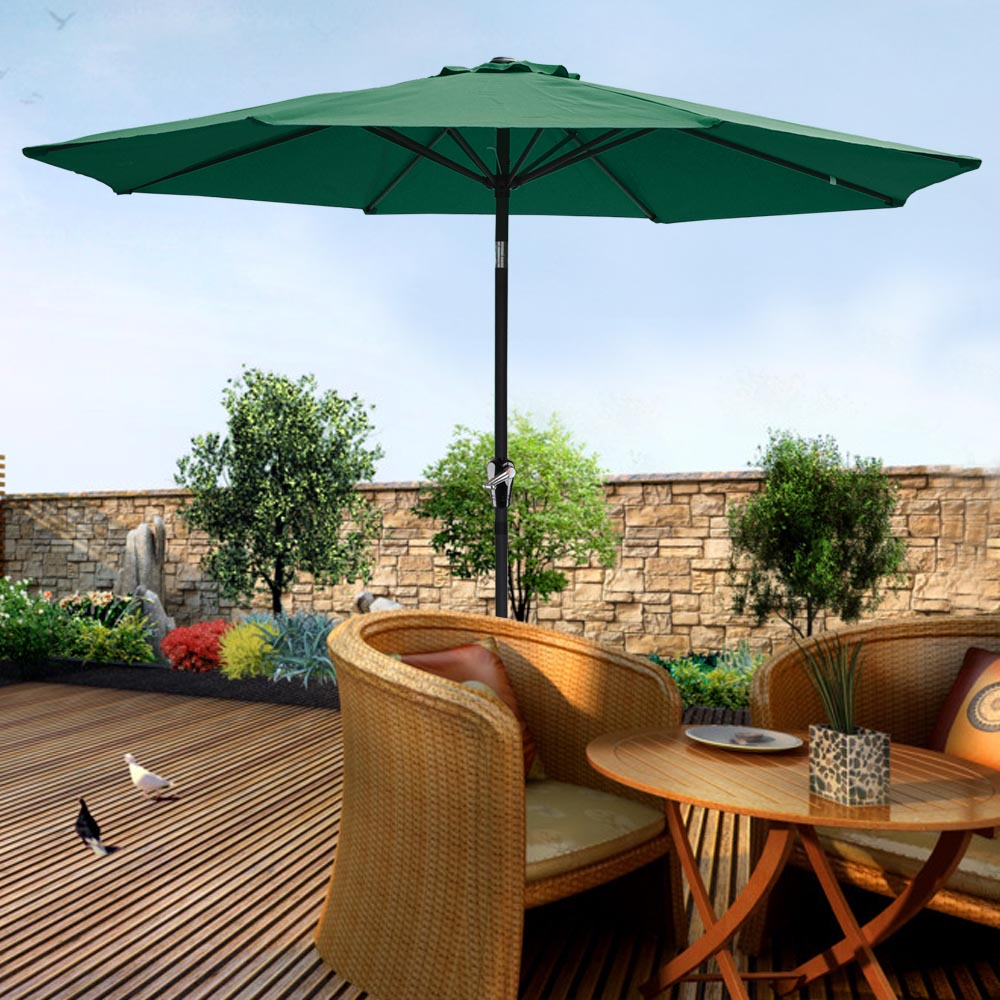 2-5m-2-7m-3m-Round-Square-Garden-Parasol-Shade-Outdoor-Patio-Umbrella-Crank-Tilt thumbnail 112
